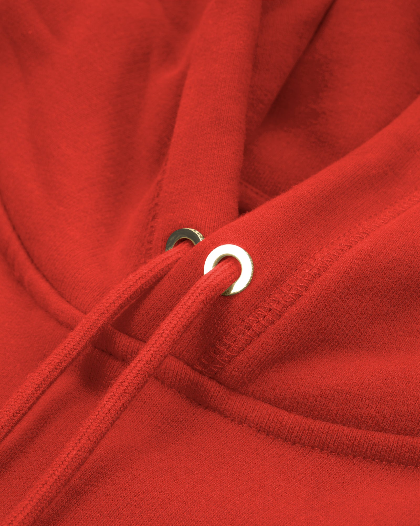 MID-WEIGHT FRENCH TERRY HOODIE - RED IMAGE #4