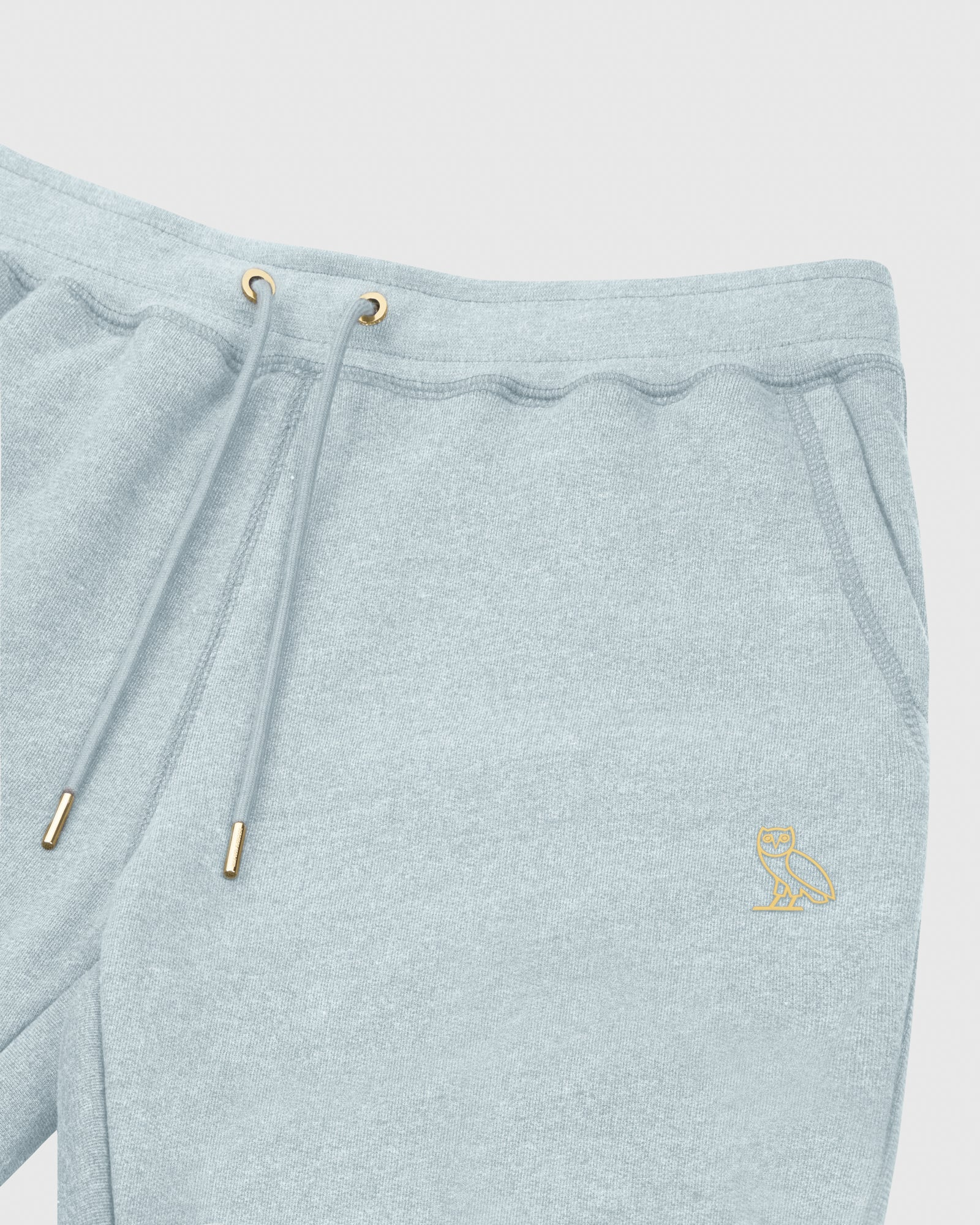 OVO FRENCH TERRY SHORT - HEATHER LIGHT BLUE IMAGE #3