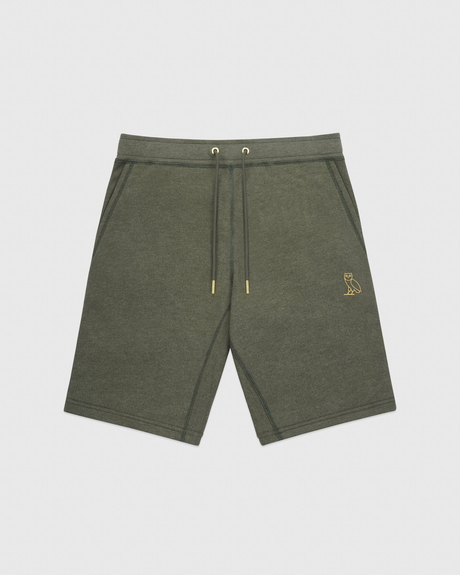 OVO FRENCH TERRY SHORT - HEATHER MILITARY GREEN IMAGE #1