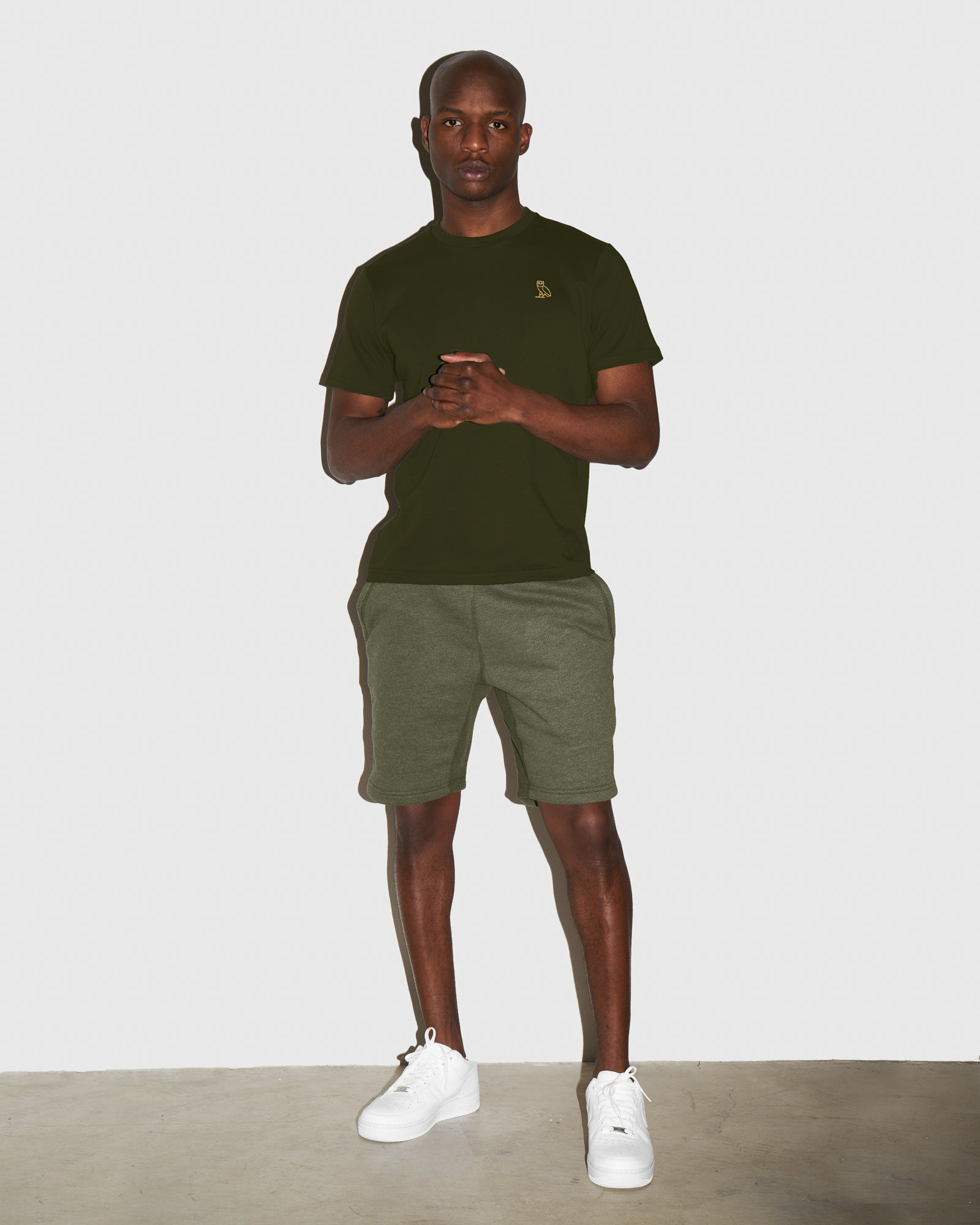 OVO FRENCH TERRY SHORT - HEATHER MILITARY GREEN IMAGE #2