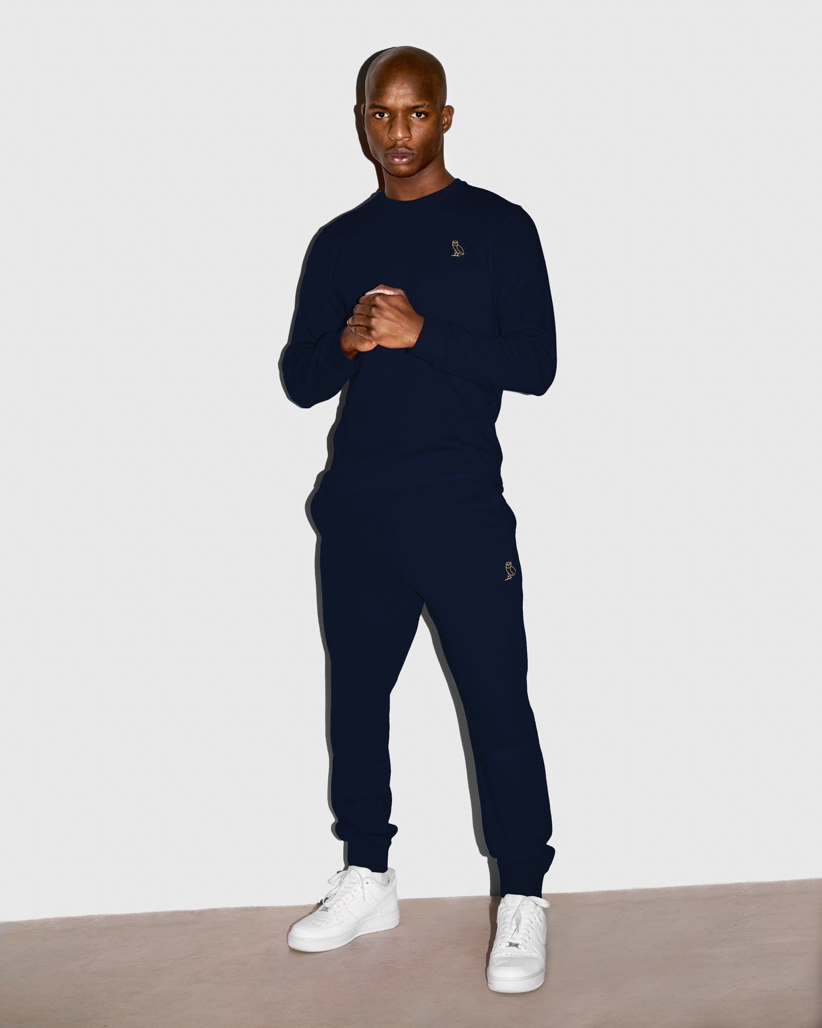 MID-WEIGHT FRENCH TERRY SWEATPANT - NAVY IMAGE #2