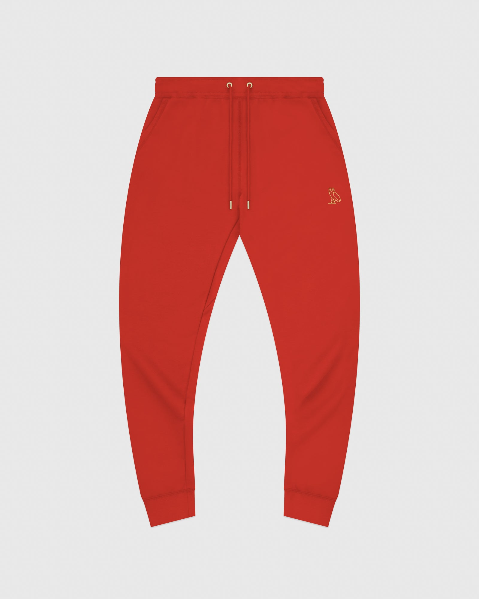MID-WEIGHT FRENCH TERRY SWEATPANT - RED IMAGE #1