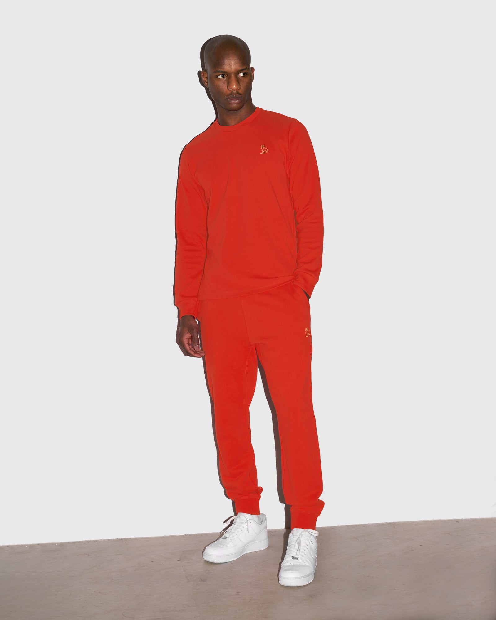 MID-WEIGHT FRENCH TERRY SWEATPANT - RED IMAGE #2