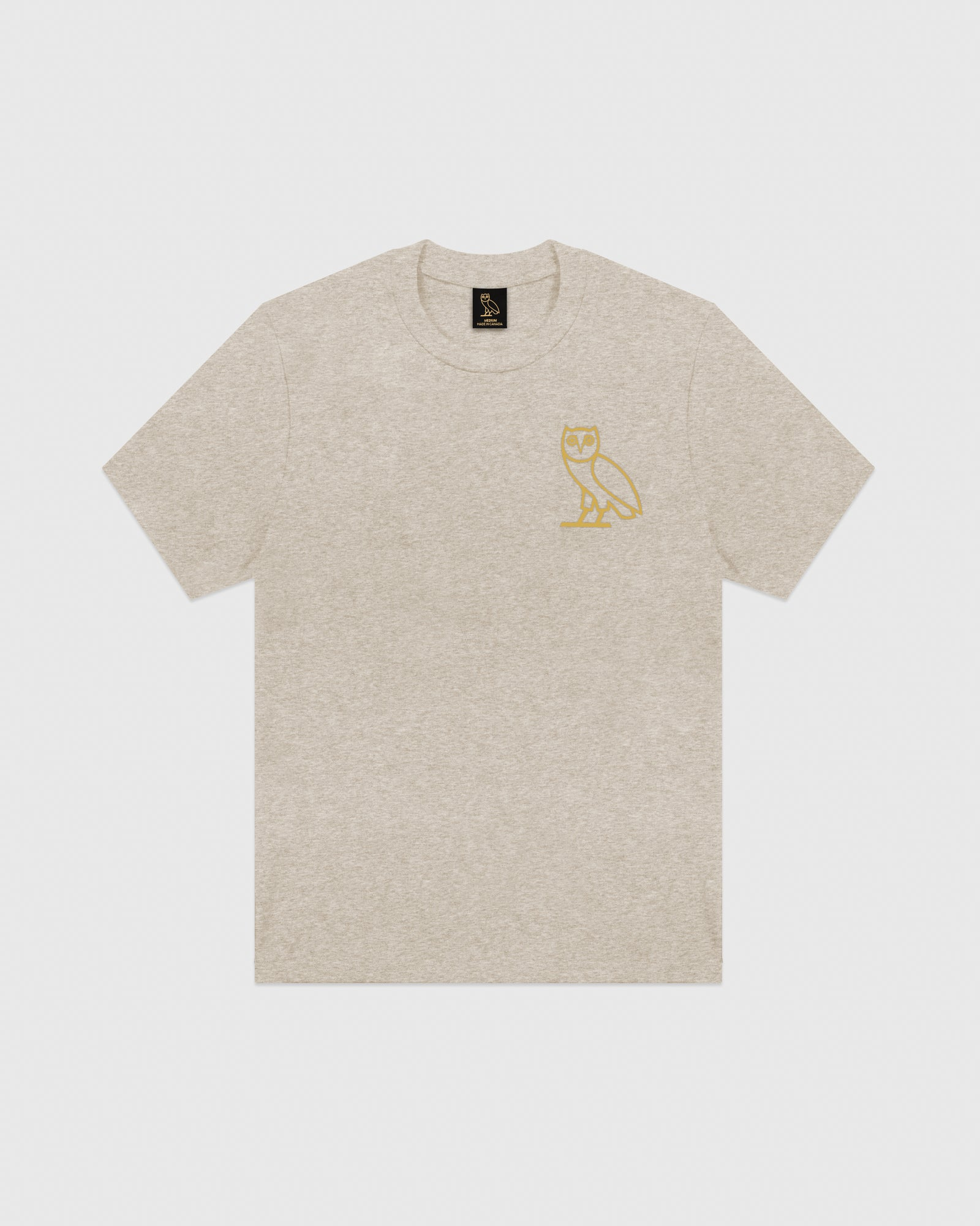 OVO OATMEAL INTERLOCK T-SHIRT - HEATHER OATMEAL