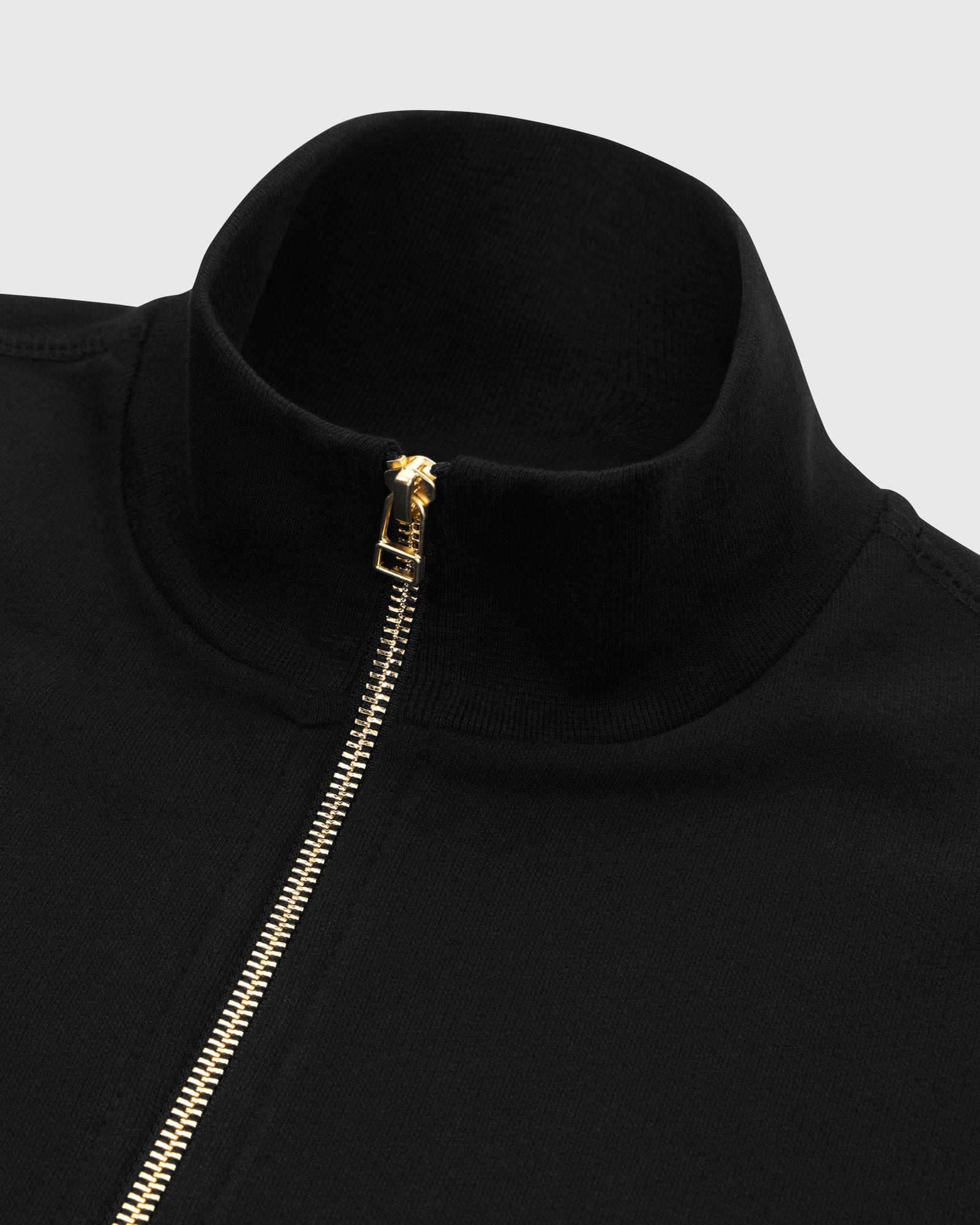 OVO FRENCH TERRY ZIP JACKET - BLACK IMAGE #4