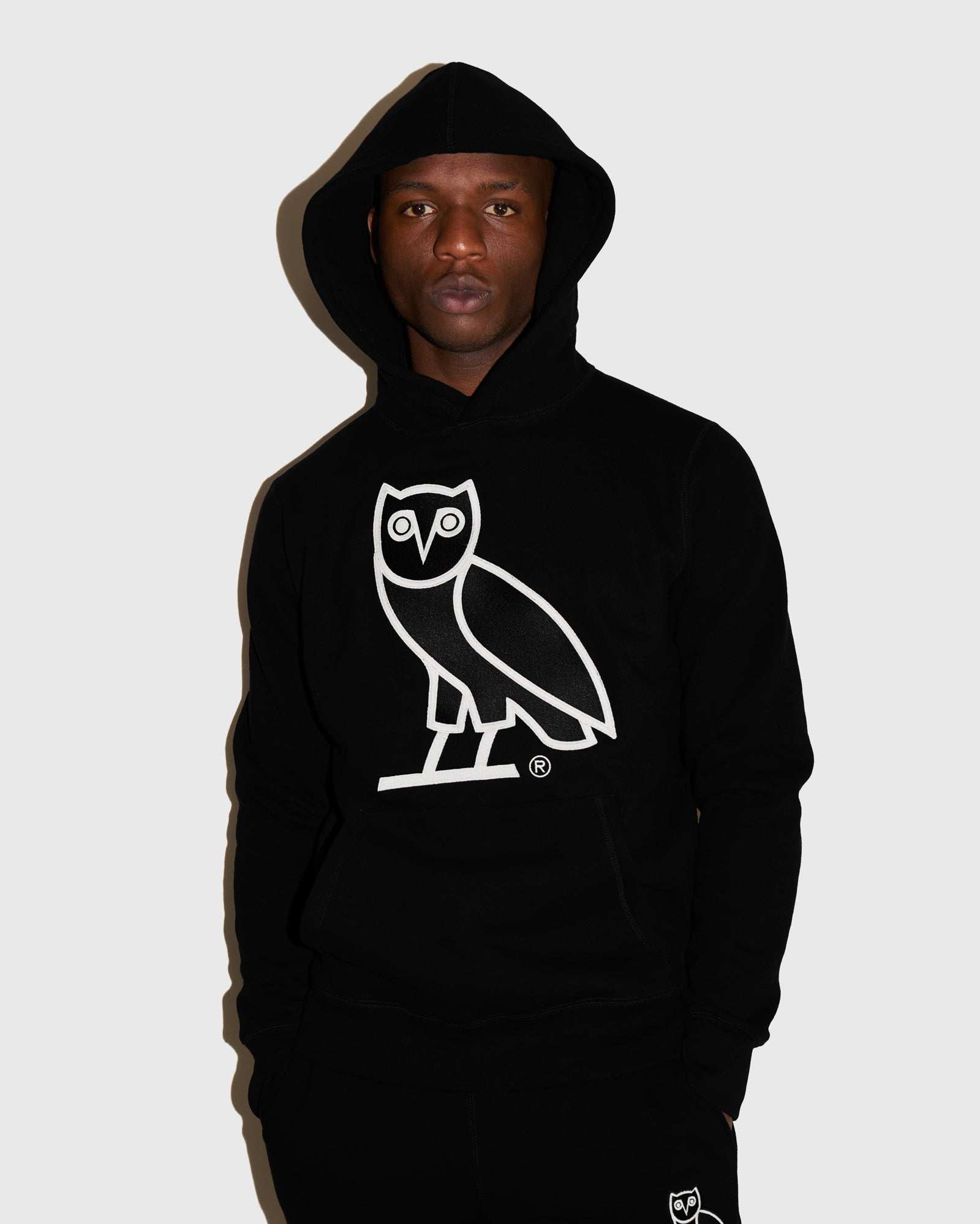 OVO AFTER DARK OWL HOODIE - BLACK IMAGE #2