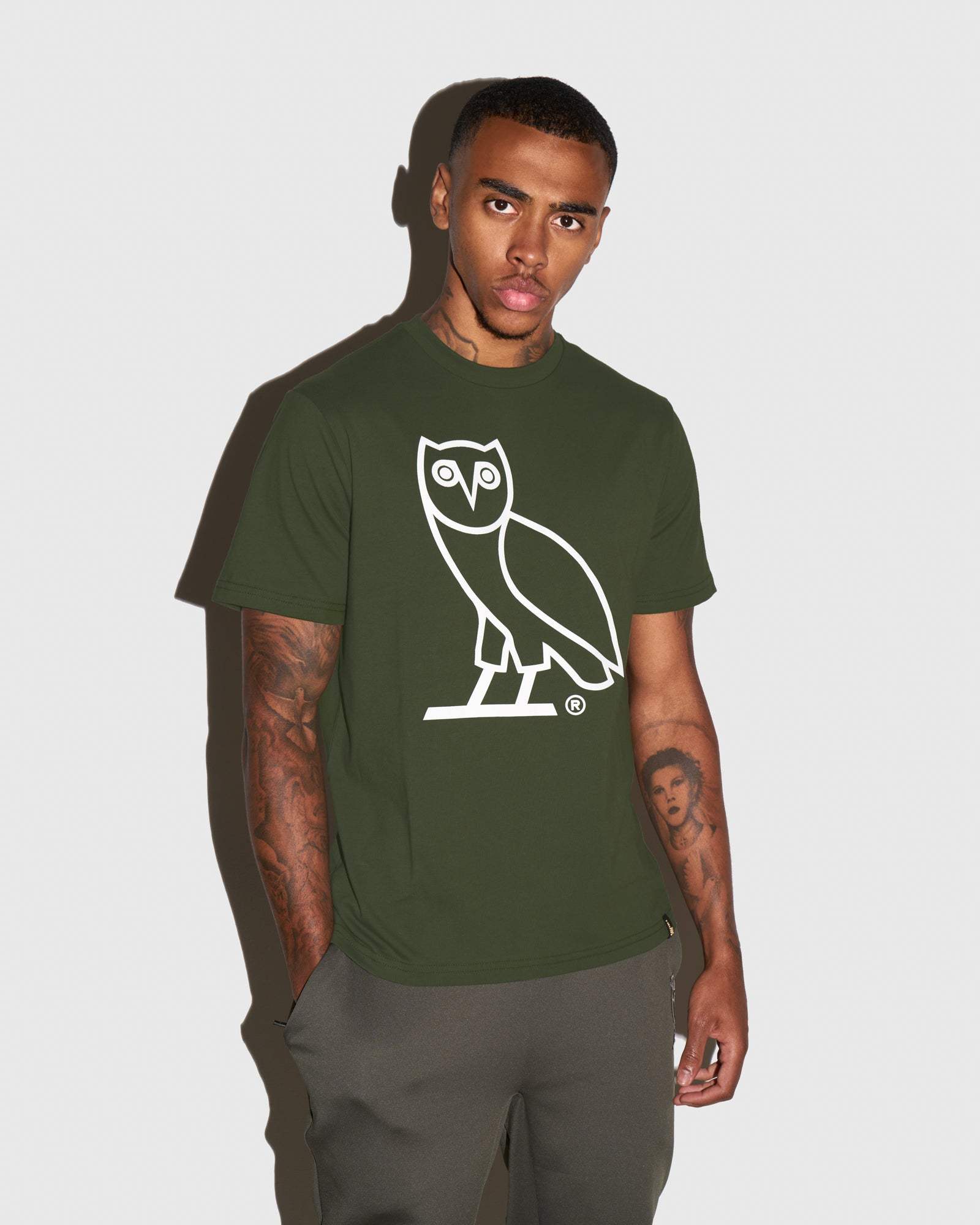 OVO OWL T-SHIRT - MILITARY GREEN IMAGE #2