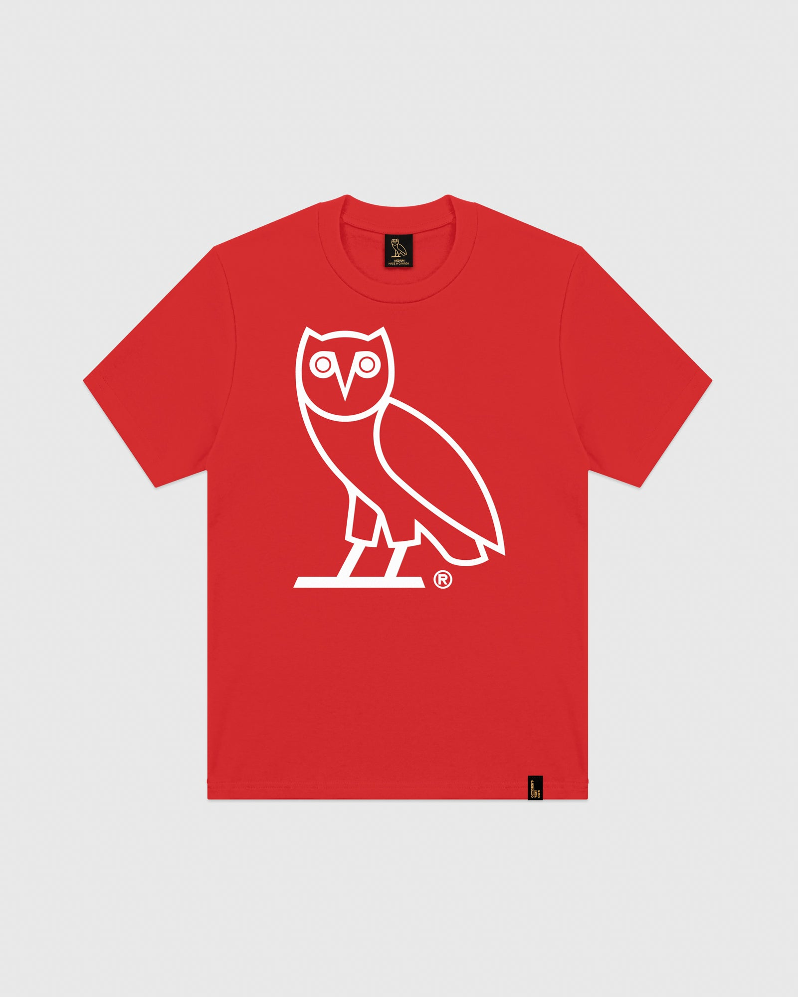 OVO OWL T-SHIRT - RED IMAGE #1
