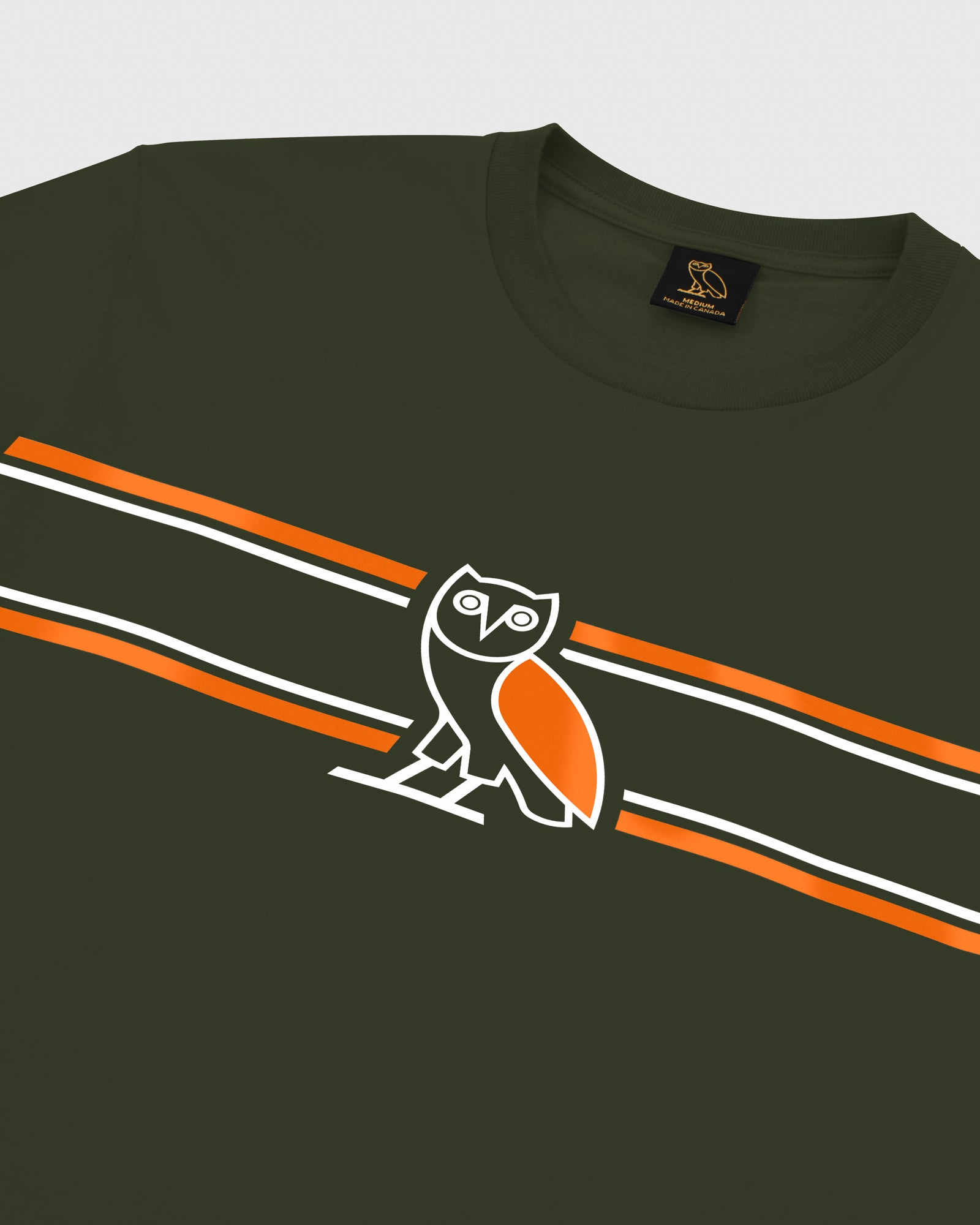 OVO CHEST STRIPE LONGSLEEVE - MILITARY GREEN IMAGE #3