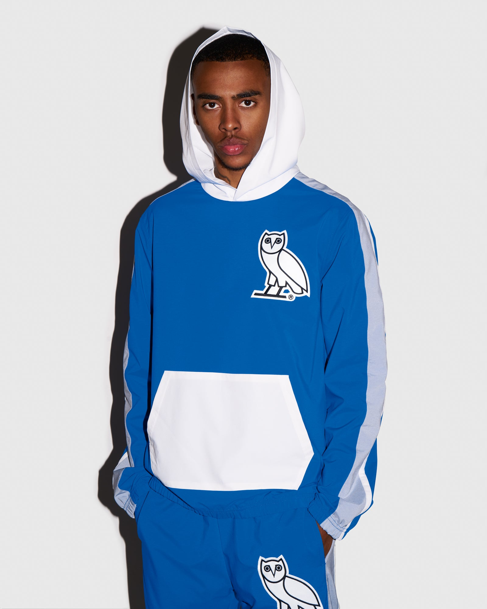 OVO LIGHTWEIGHT SHELL HOODIE - ROYAL BLUE IMAGE #2