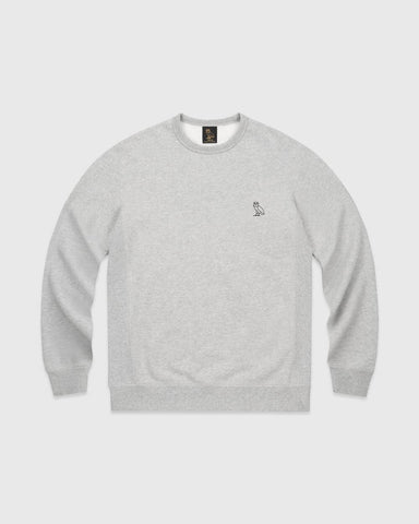 OVO ESSENTIALS CREW - HEATHER GREY