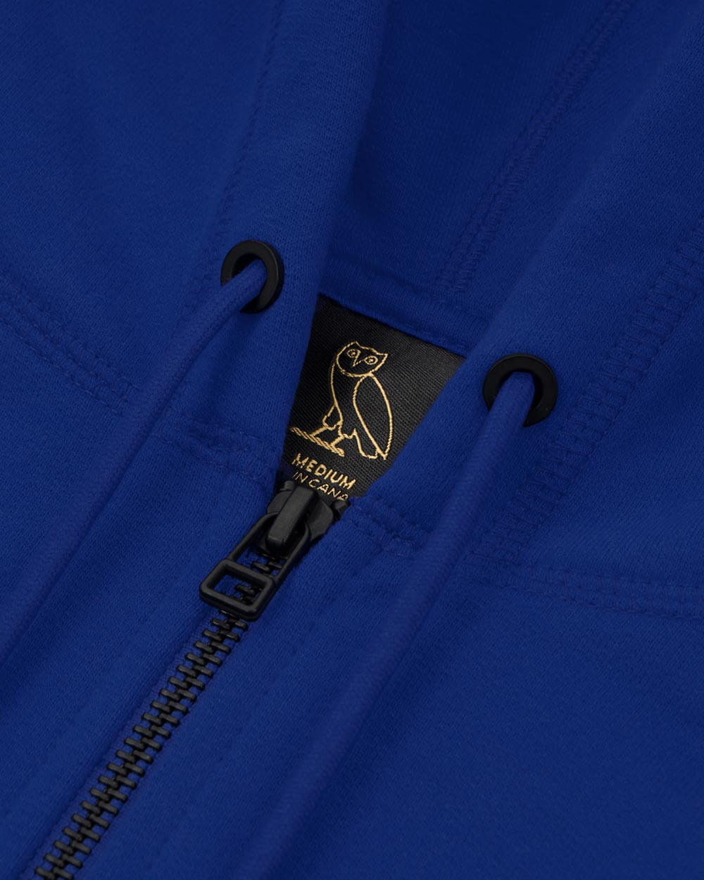 MID-WEIGHT FRENCH TERRY ZIP HOODIE - ROYAL BLUE