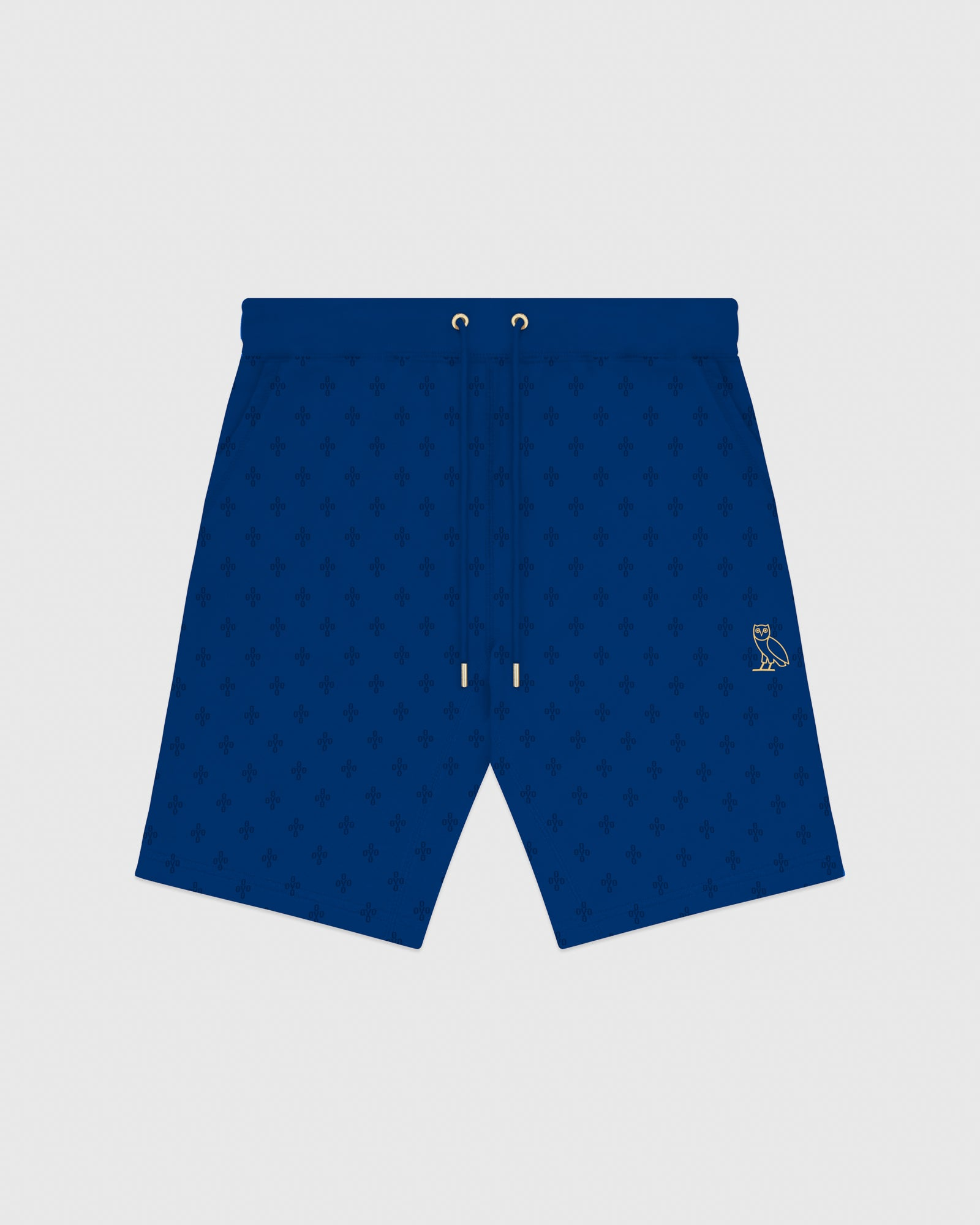 OVO MONOGRAM SWEATSHORT - ELECTRIC BLUE IMAGE #1