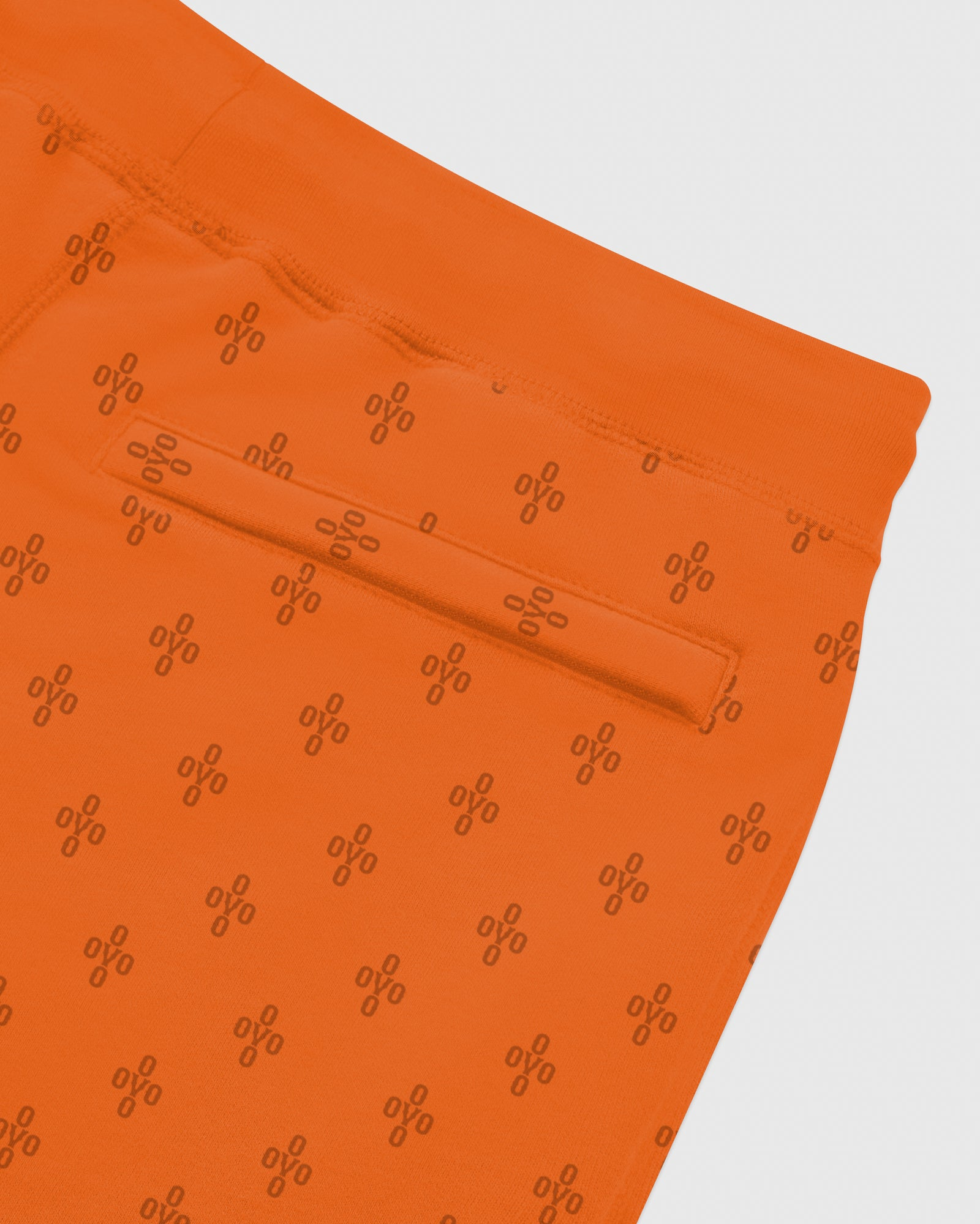 OVO MONOGRAM SWEATSHORT - ORANGE