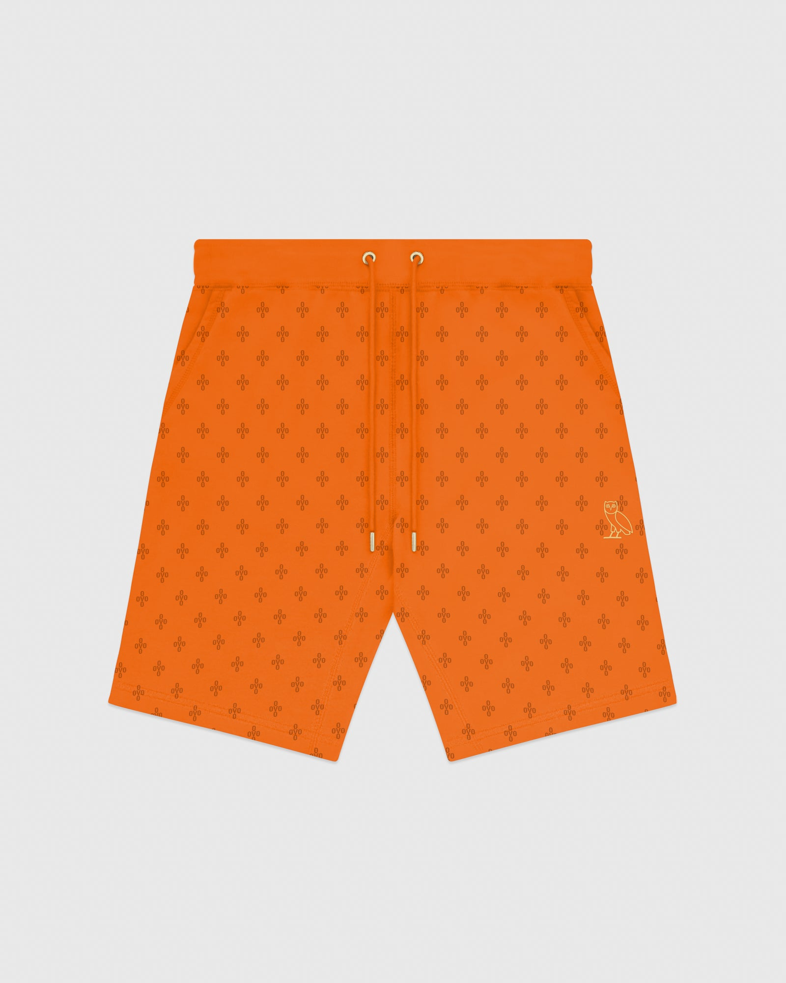 OVO MONOGRAM SWEATSHORT - ORANGE IMAGE #1