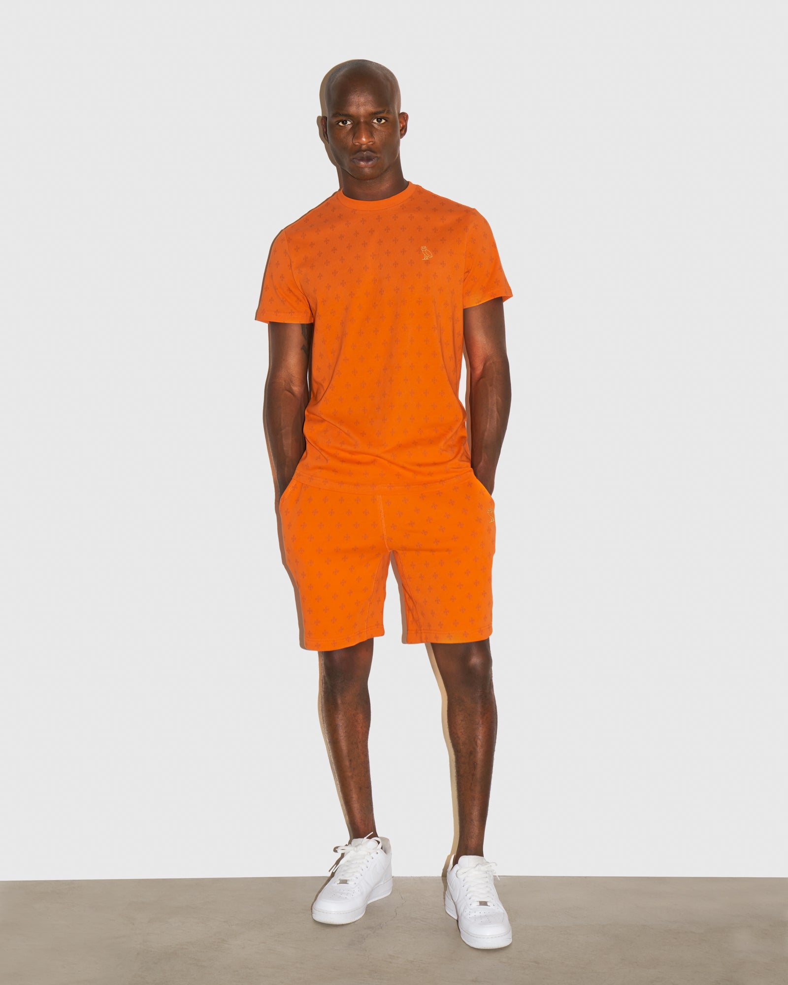 OVO MONOGRAM SWEATSHORT - ORANGE IMAGE #2