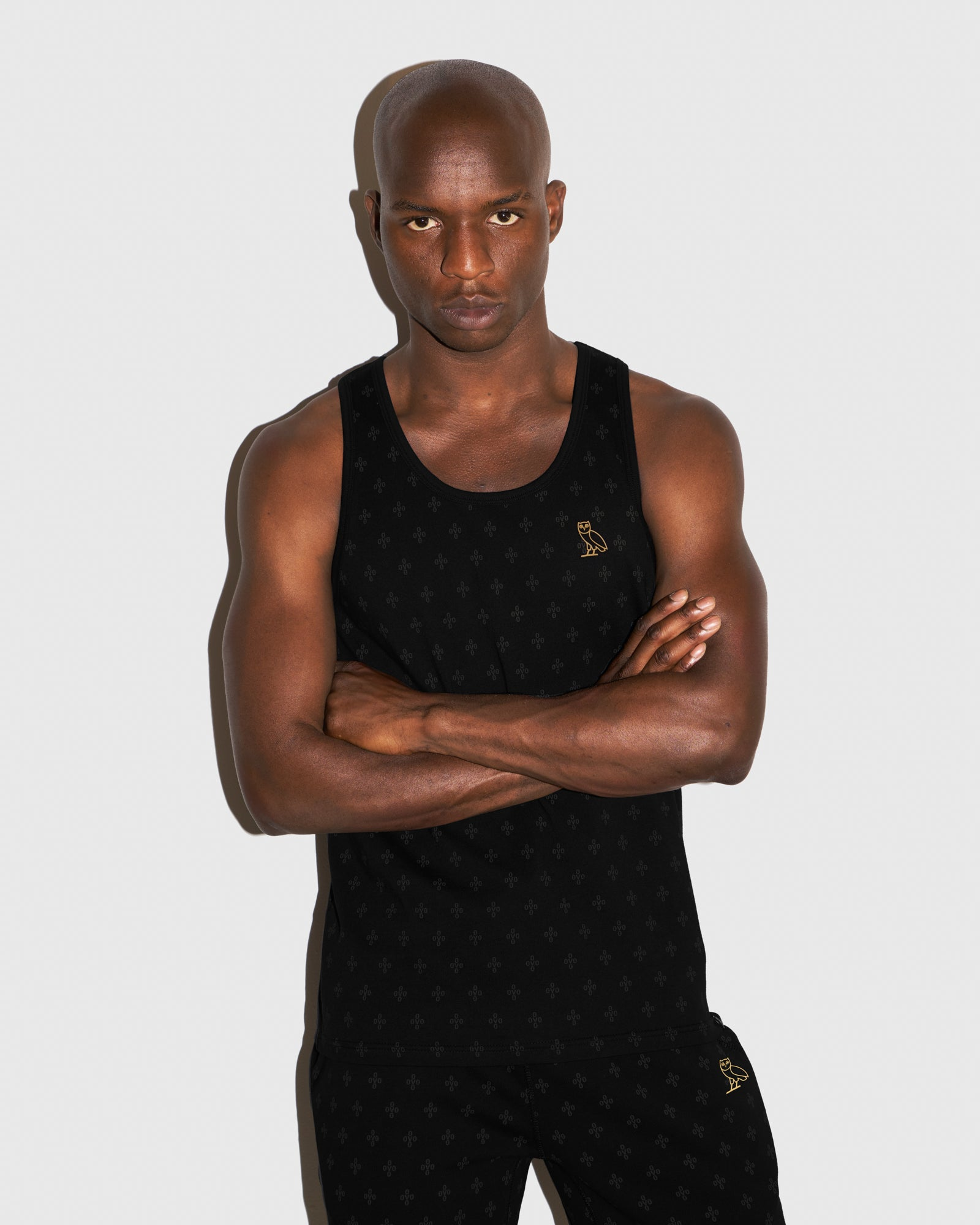 OVO MONOGRAM TANK TOP - BLACK IMAGE #2