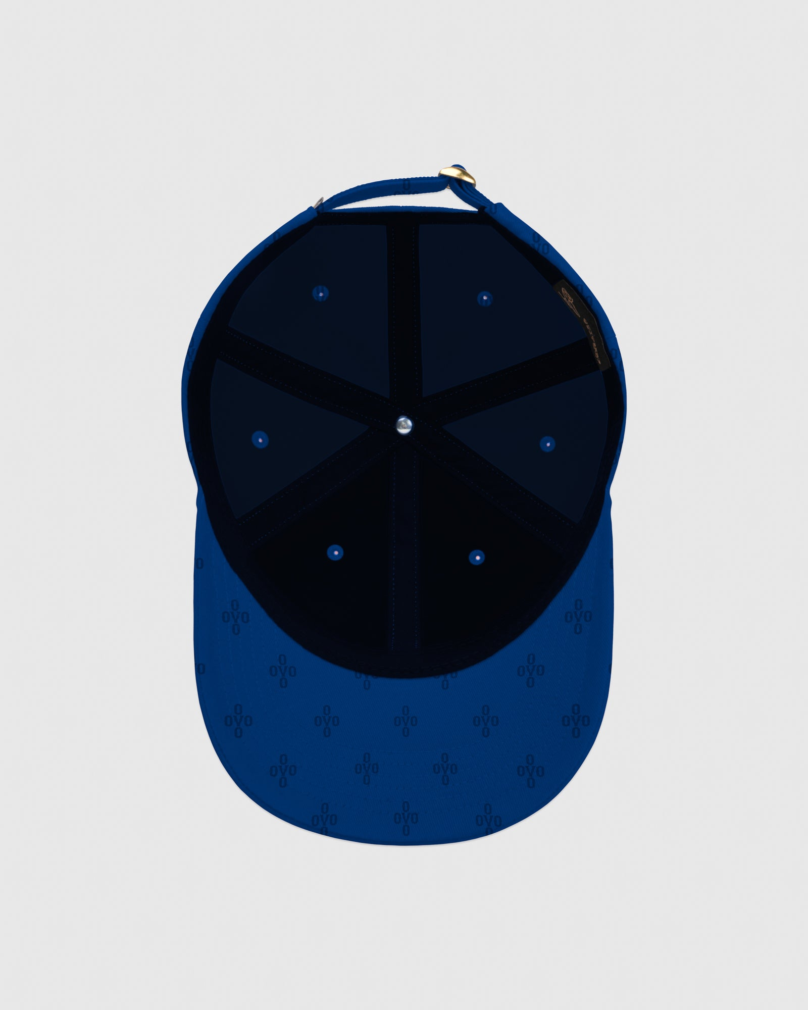 OVO MONOGRAM TWILL CAP - ELECTRIC BLUE IMAGE #5