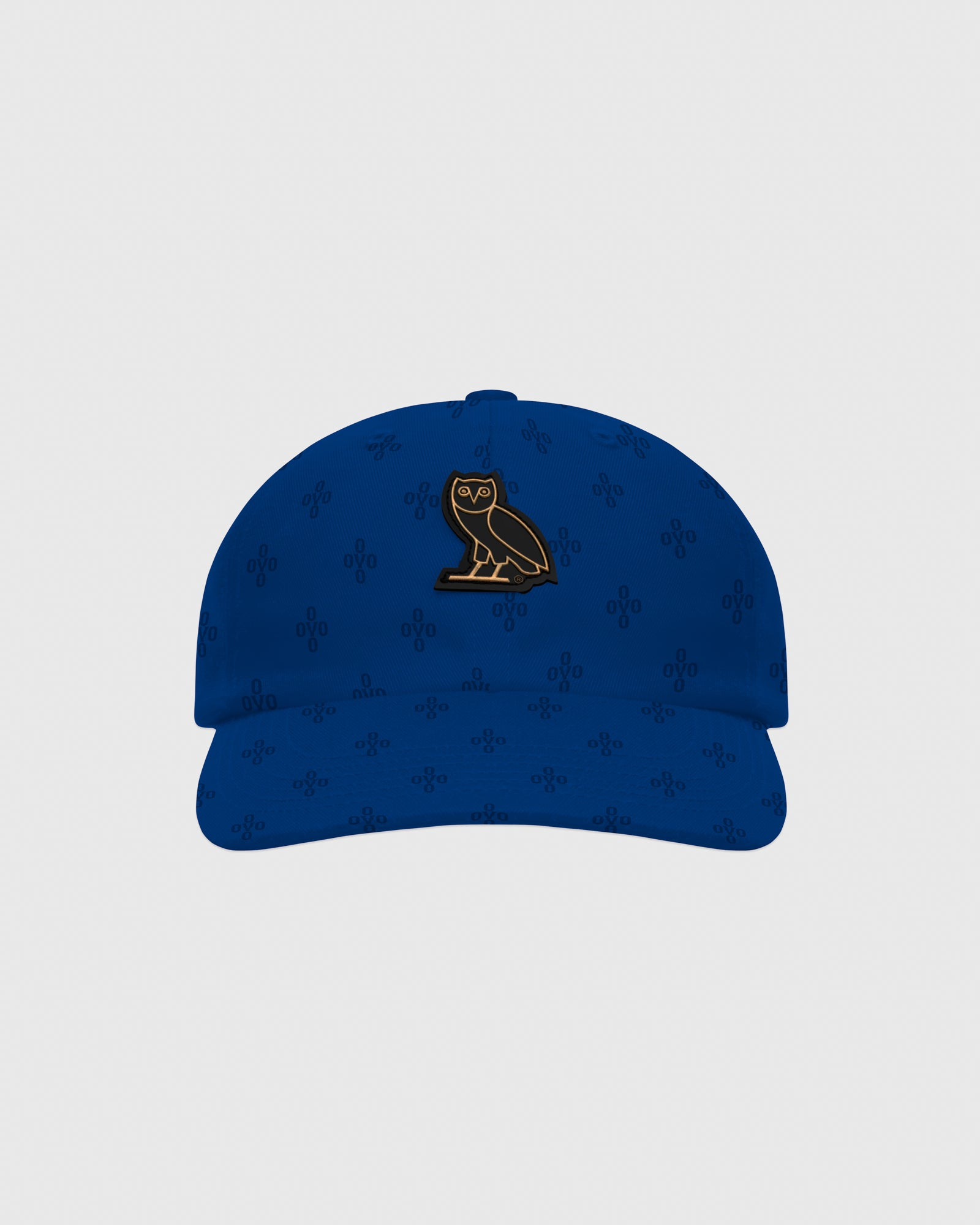 OVO MONOGRAM TWILL CAP - ELECTRIC BLUE IMAGE #1