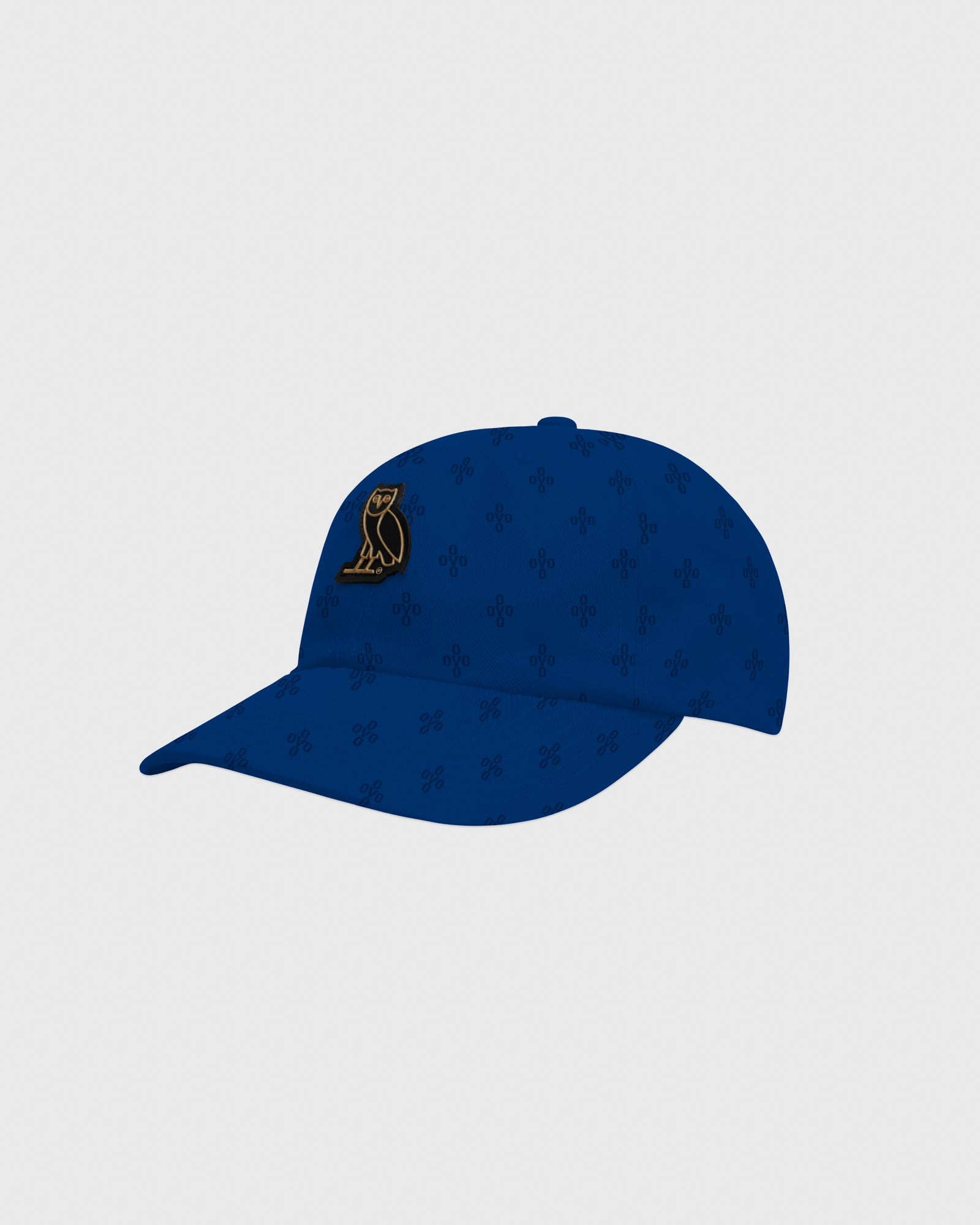 OVO MONOGRAM TWILL CAP - ELECTRIC BLUE IMAGE #3