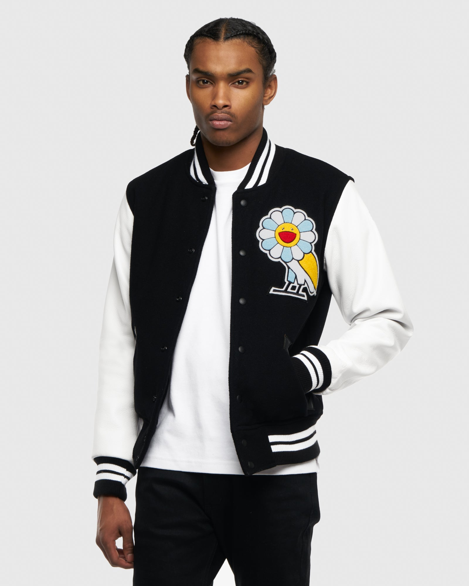 OVO x MURAKAMI TEAM JACKET - BLACK/WHITE