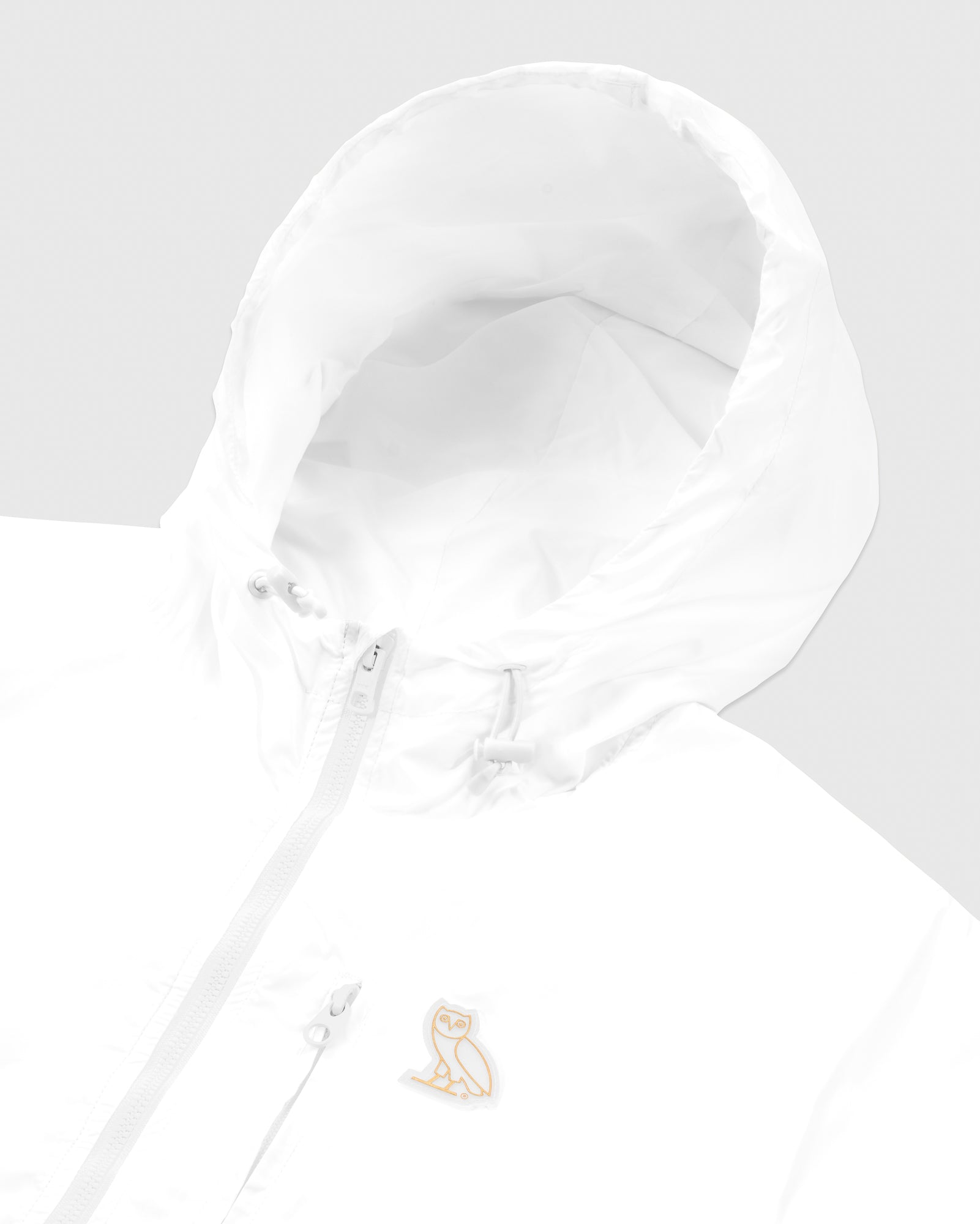 OVO NYLON PACKABLE JACKET - WHITE