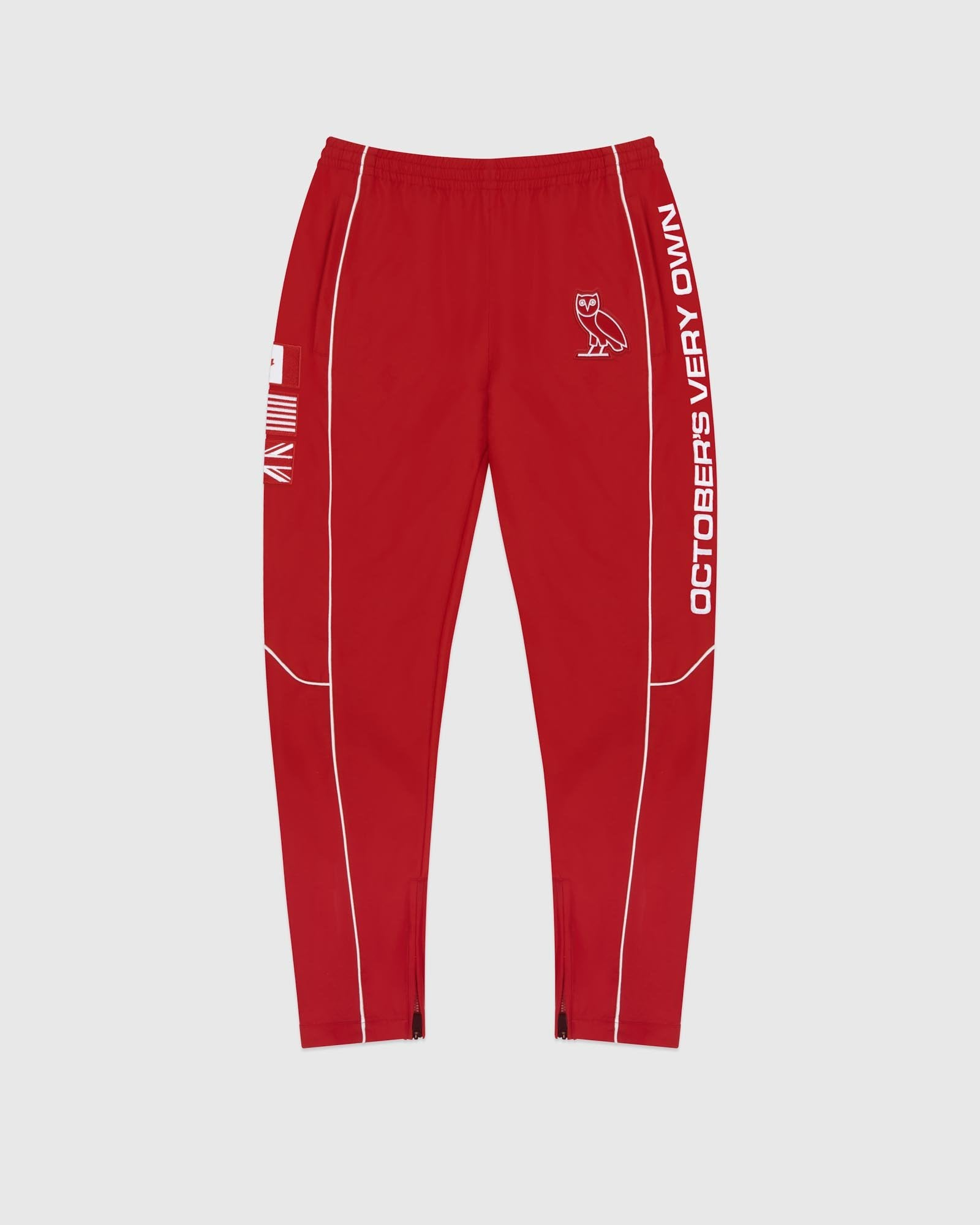 NYLON TEAM RACE PANT - RED IMAGE #1