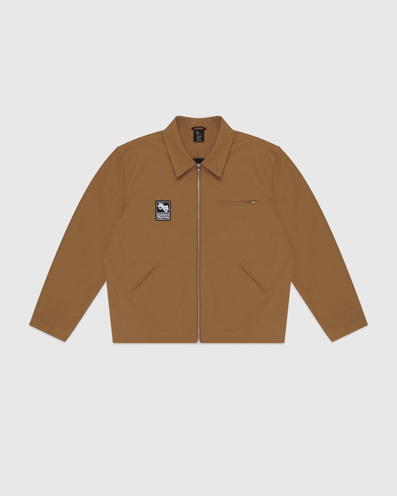 OCTOBER CANVAS JACKET - BROWN IMAGE #1