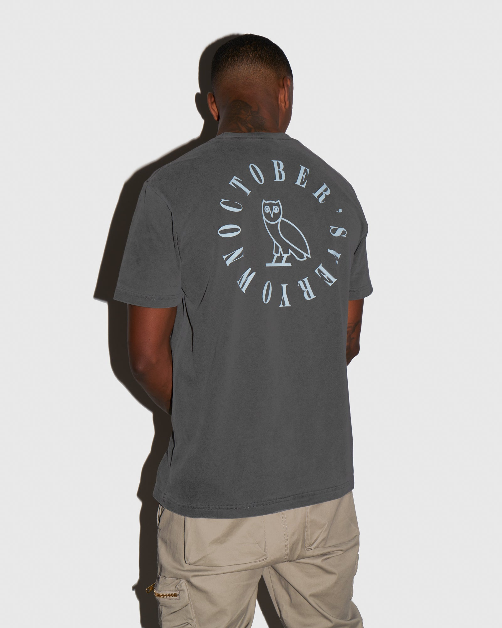 CIRCLE SPELL OUT T-SHIRT - BLACK IMAGE #3