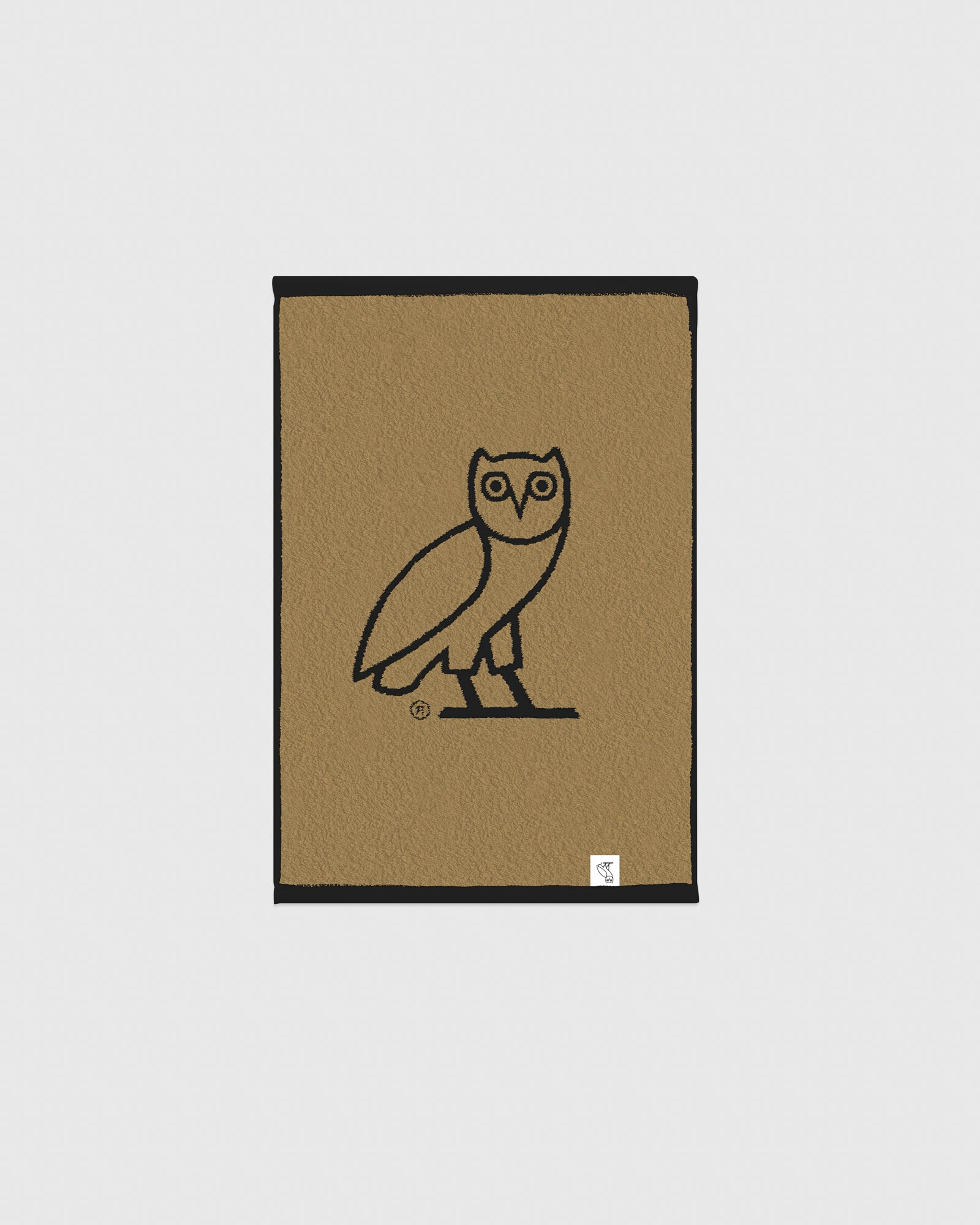 OVO OWL PERSONAL TOWEL - BLACK/GOLD IMAGE #2