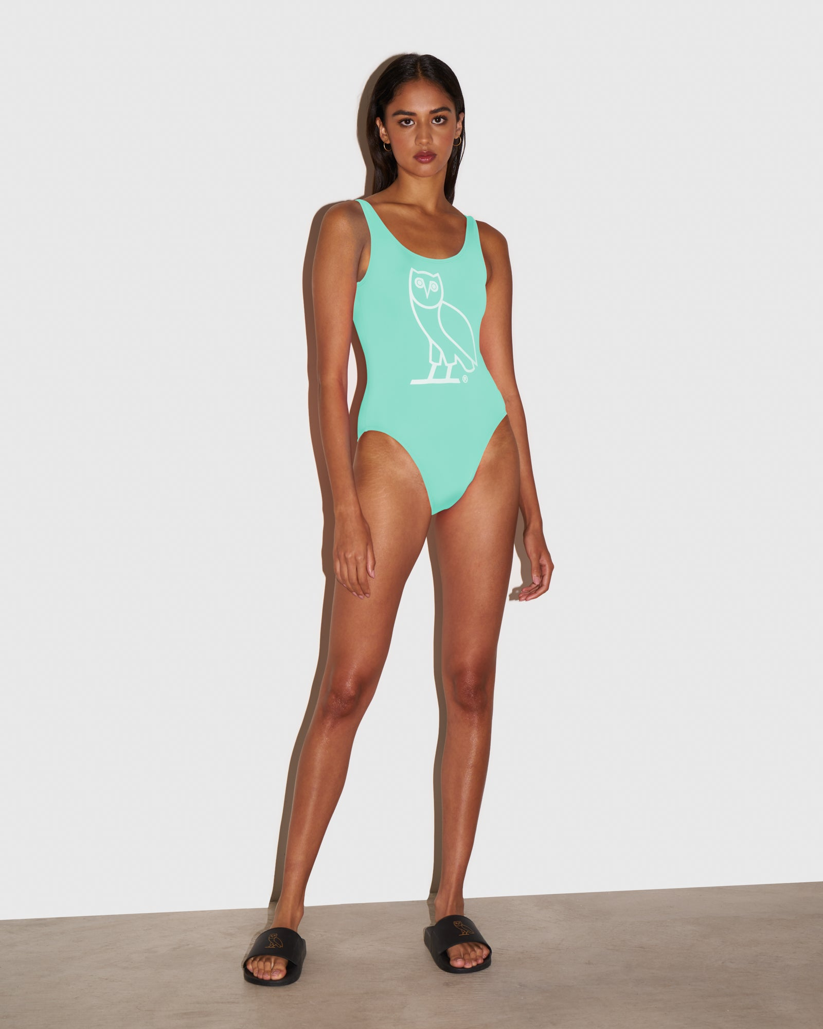 WOMEN'S OVO SWIMSUIT - TEAL IMAGE #2