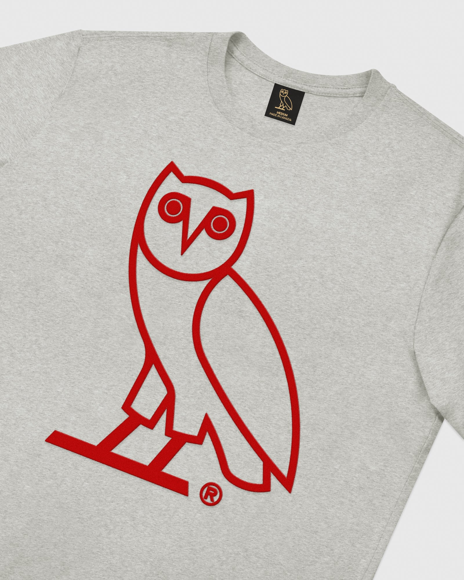 OVO OWL T-SHIRT - HEATHER GREY IMAGE #3