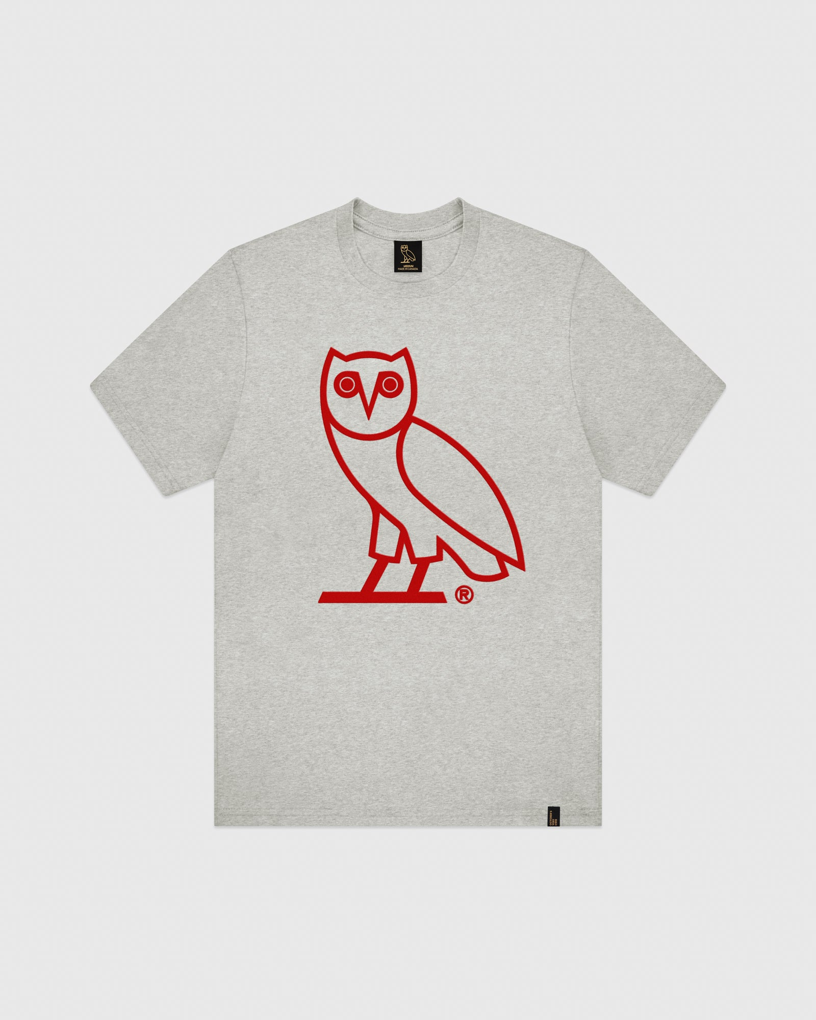 OVO OWL T-SHIRT - HEATHER GREY IMAGE #1
