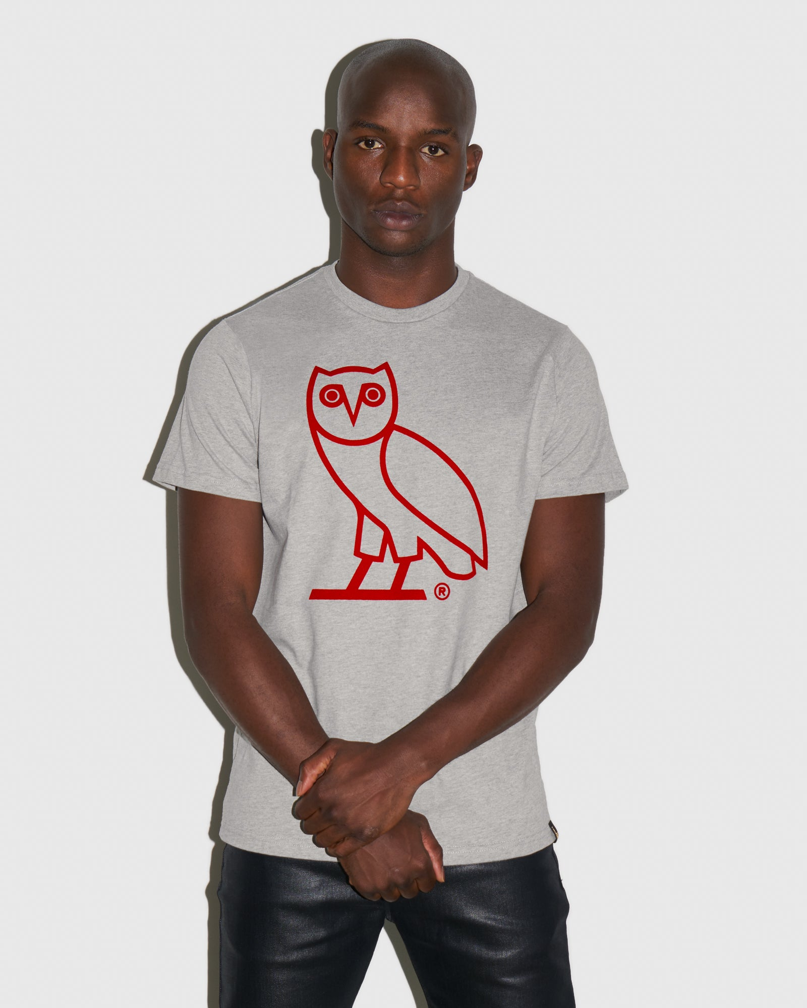 OVO OWL T-SHIRT - HEATHER GREY IMAGE #2