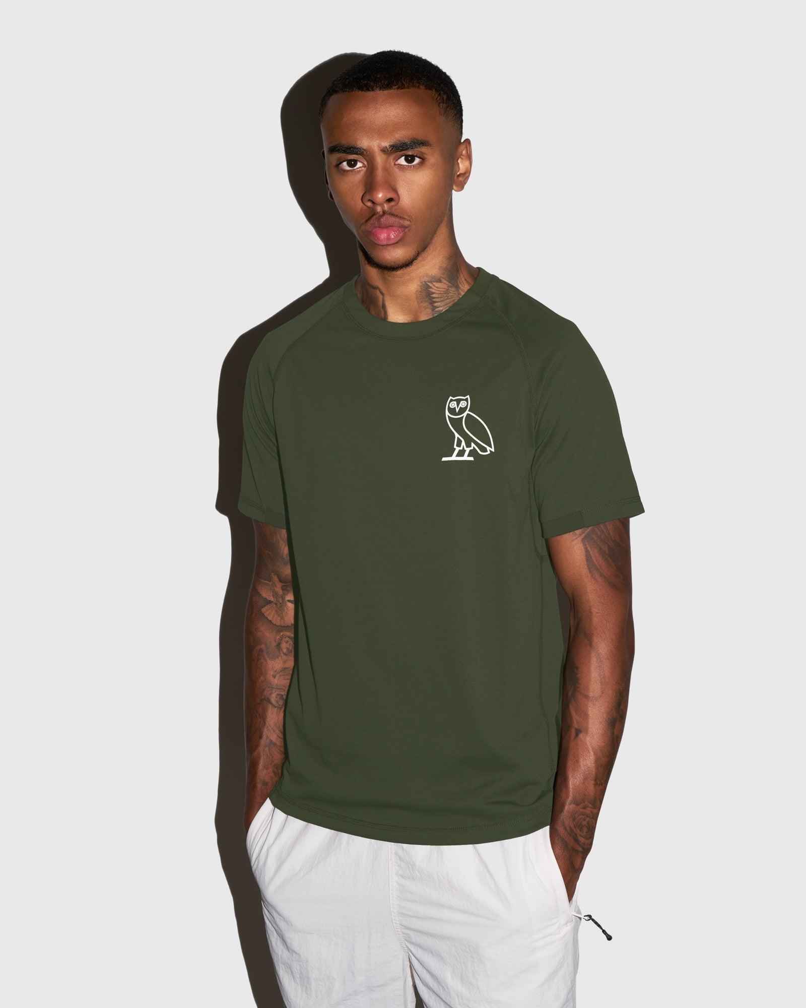 OVO PERFORMANCE JERSEY T-SHIRT - MILITARY GREEN IMAGE #2