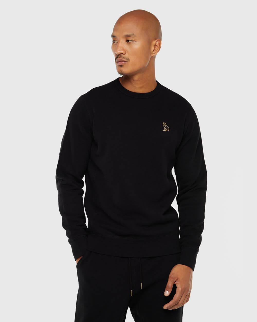 OVO ESSENTIALS CREW - BLACK IMAGE #2
