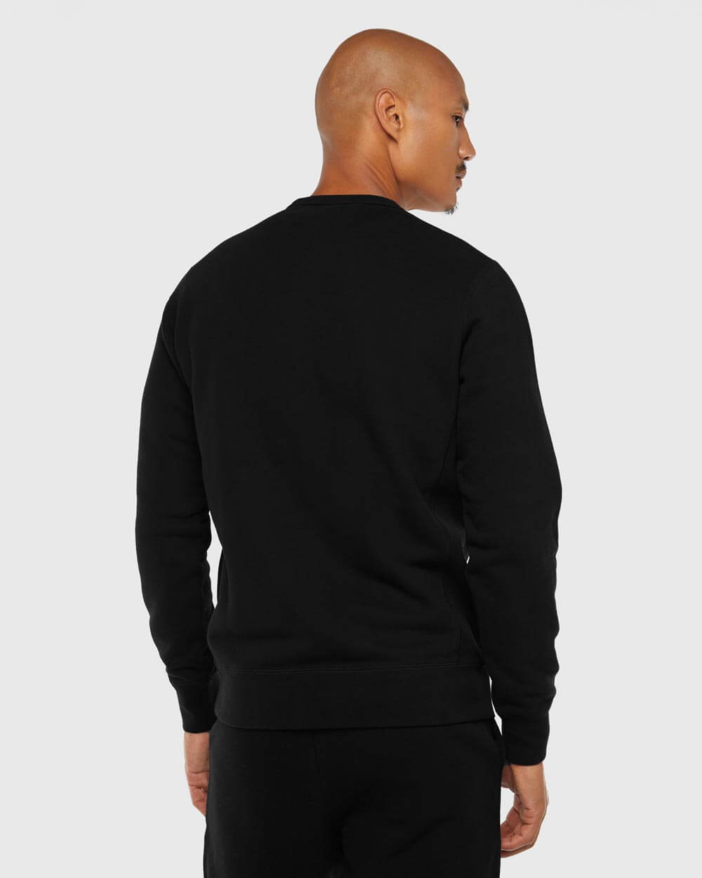 MID-WEIGHT FRENCH TERRY CREW - BLACK