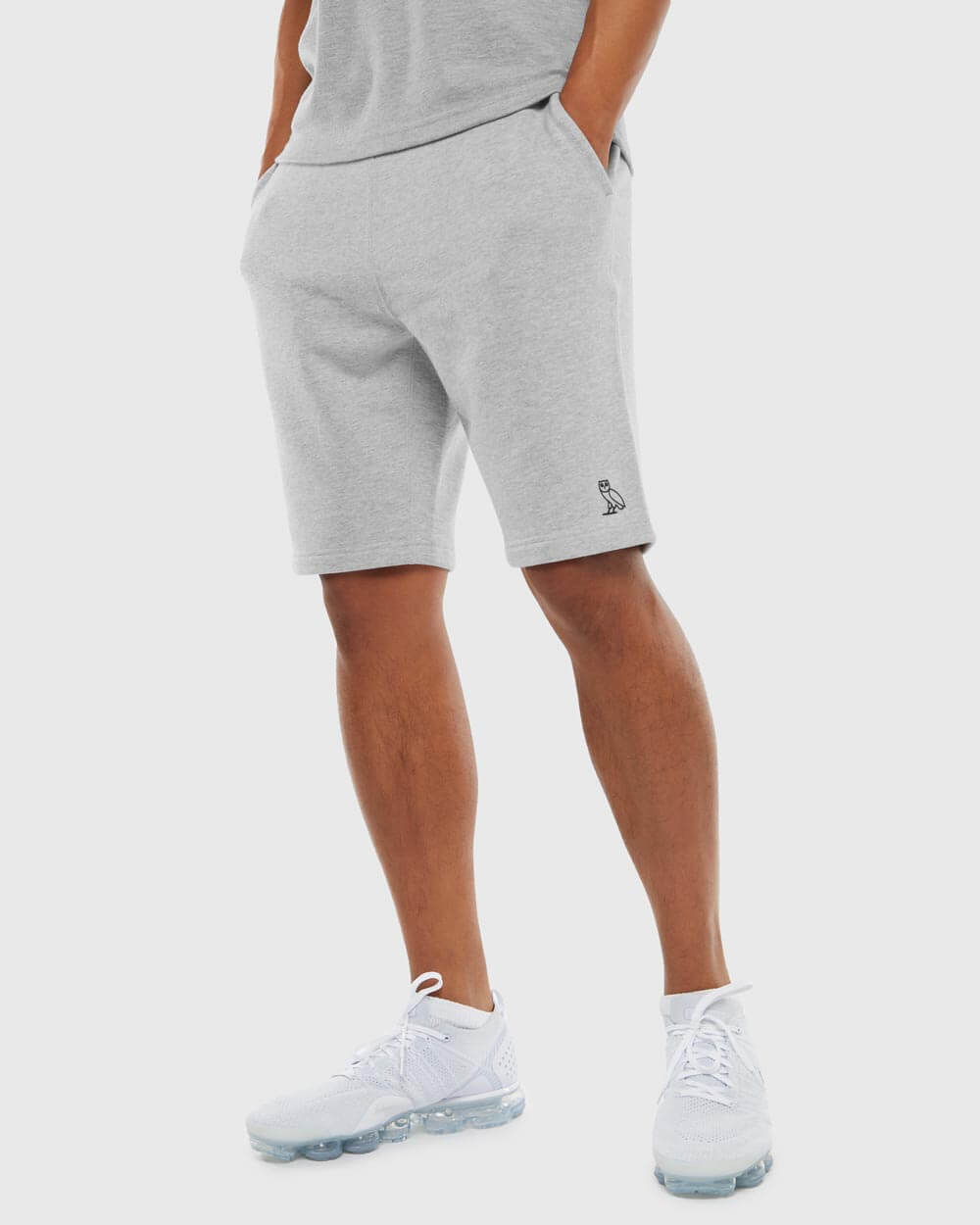 OVO ESSENTIALS SHORT - HEATHER GREY IMAGE #2