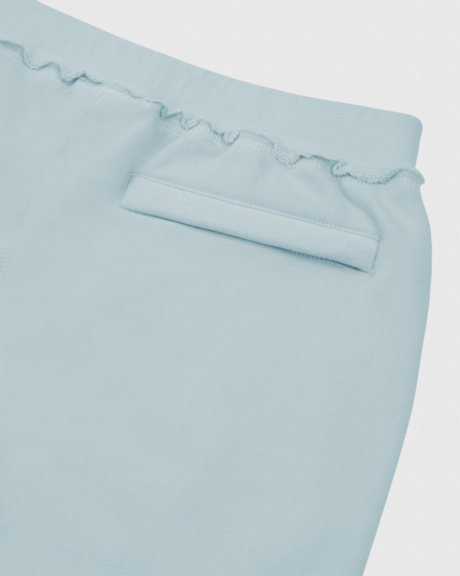 RAW EDGE FRENCH TERRY SWEATPANT - BABY BLUE IMAGE #4
