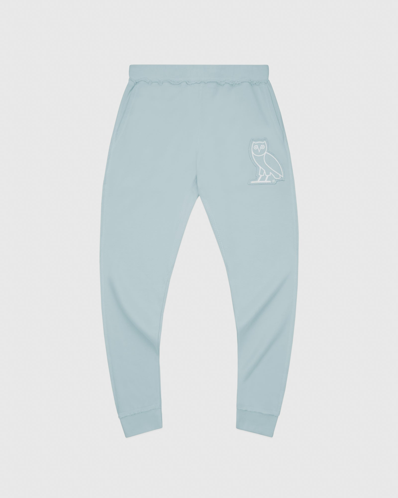 RAW EDGE FRENCH TERRY SWEATPANT - BABY BLUE IMAGE #1