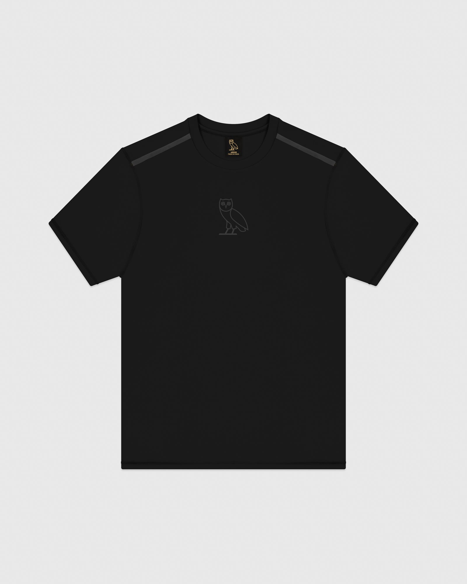 OVO REFLECTIVE PERFORMANCE T-SHIRT - BLACK IMAGE #1