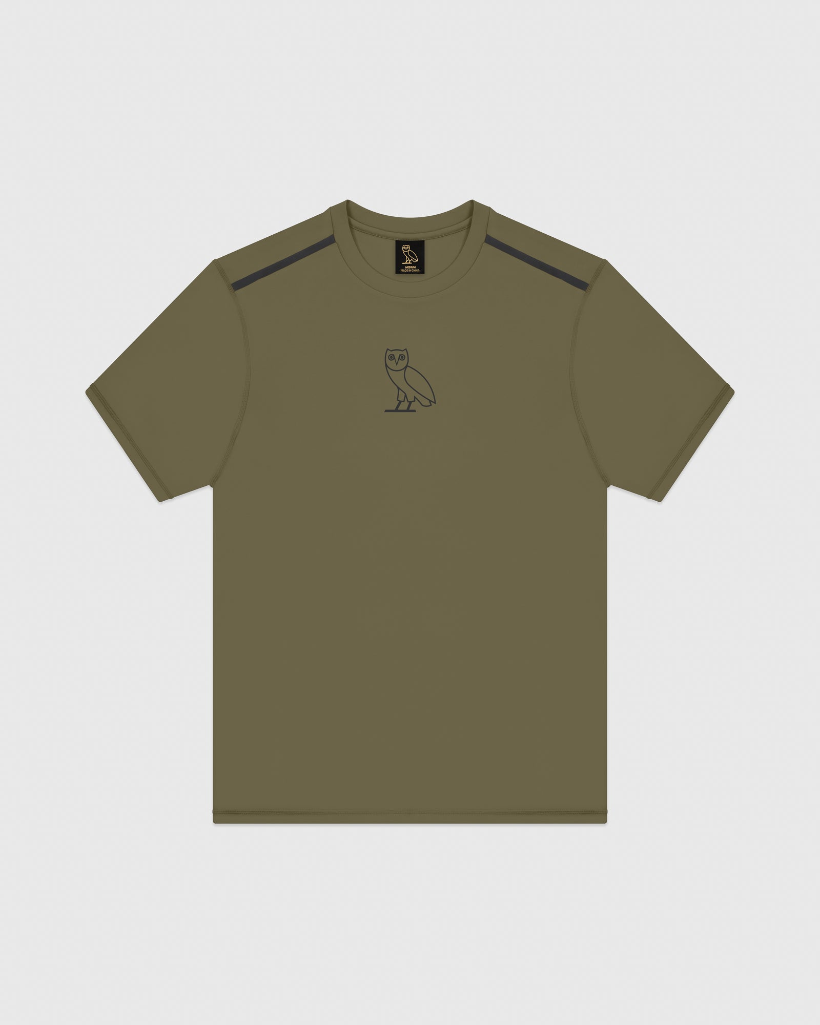OVO REFLECTIVE PERFORMANCE T-SHIRT - LIGHT STONE GREEN