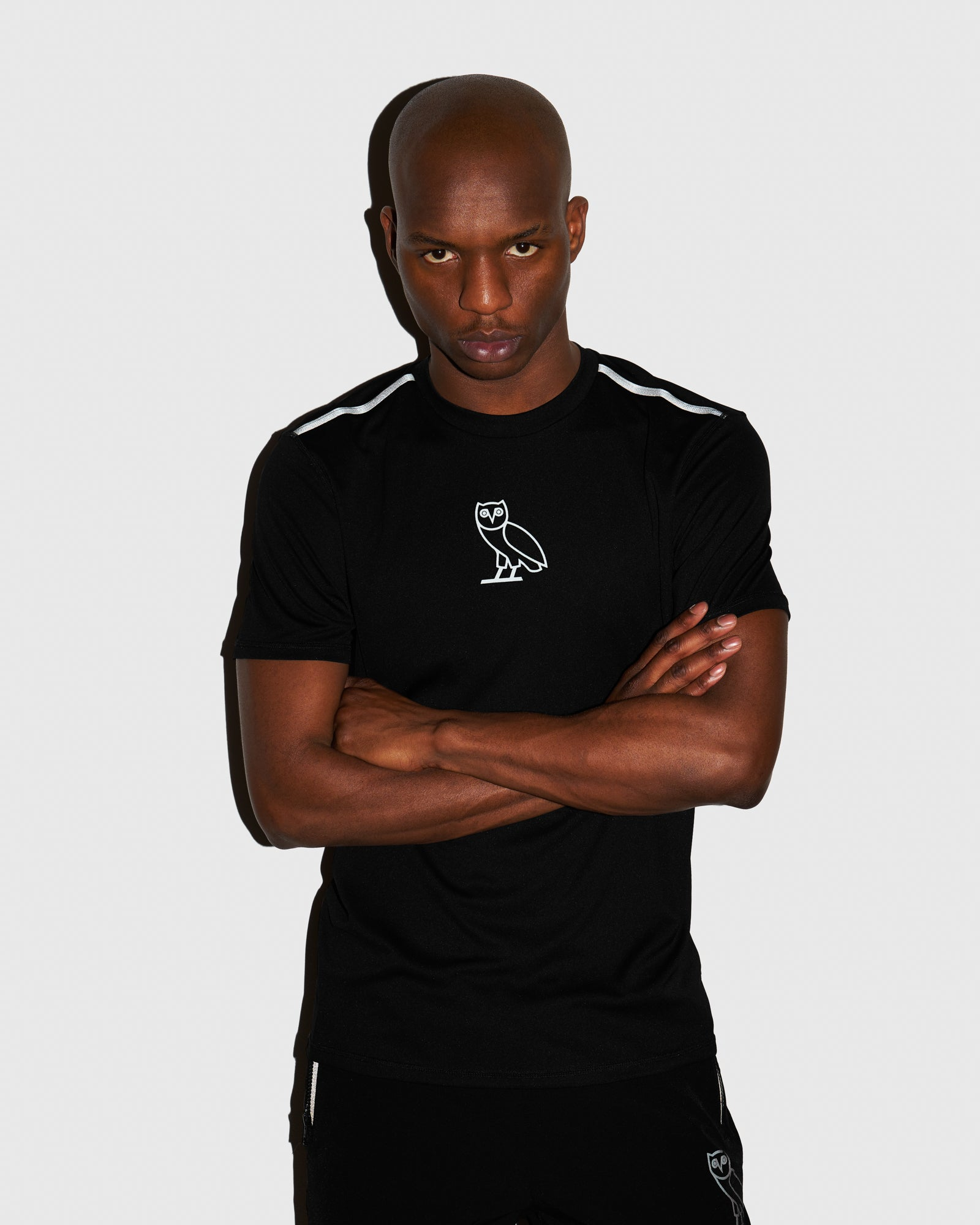 OVO REFLECTIVE PERFORMANCE T-SHIRT - BLACK IMAGE #2