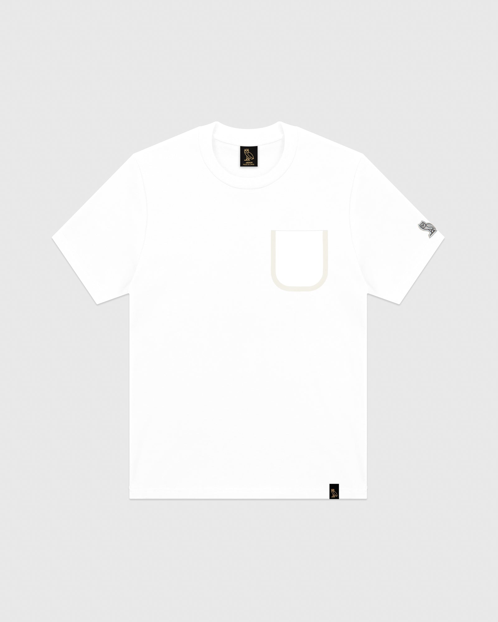 OVO REFLECTIVE POCKET T-SHIRT - WHITE IMAGE #1