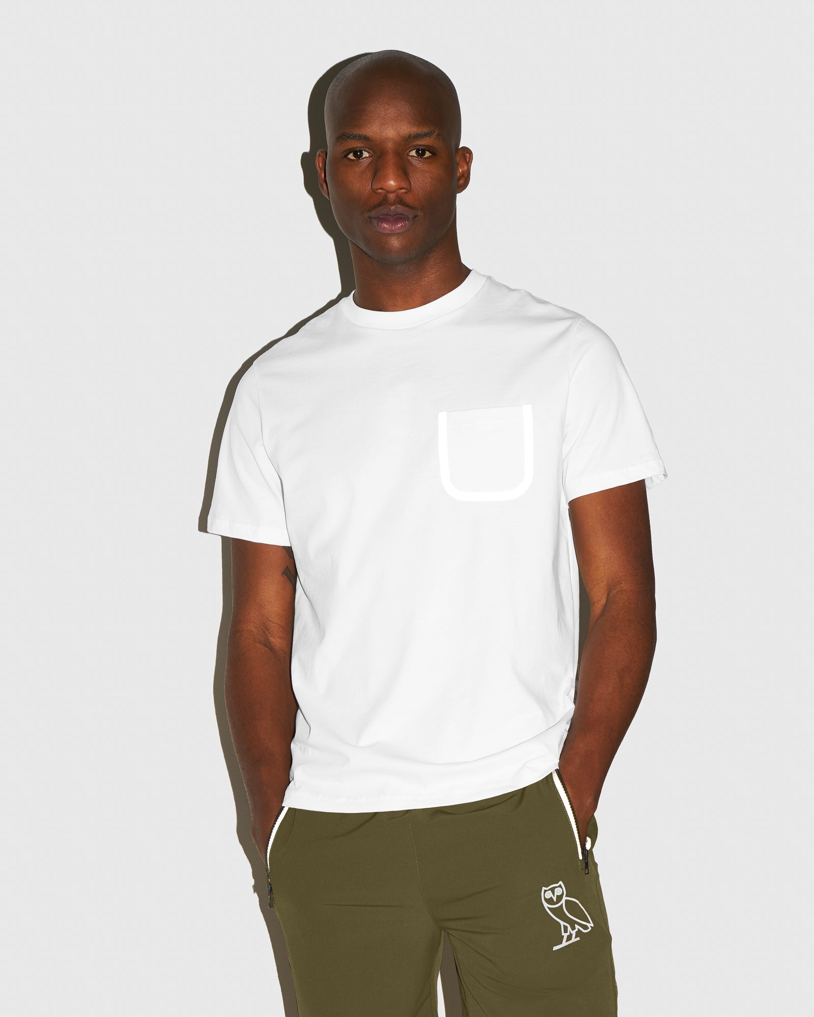 OVO REFLECTIVE POCKET T-SHIRT - WHITE IMAGE #2