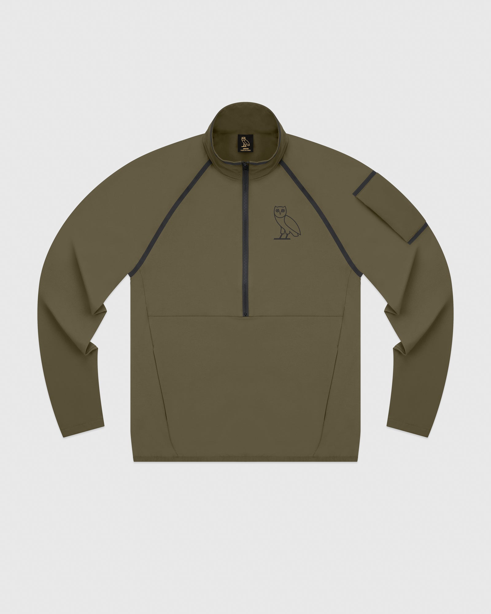 OVO 4-WAY STRETCH ANORAK - LIGHT STONE GREEN IMAGE #1