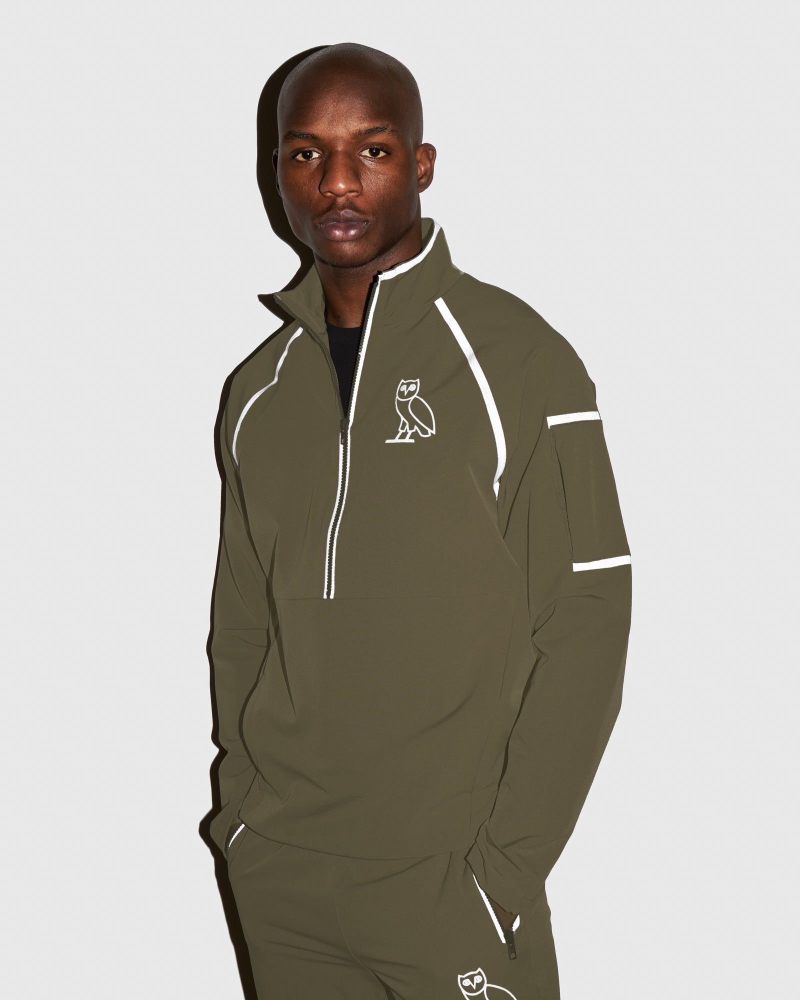 OVO 4-WAY STRETCH ANORAK - LIGHT STONE GREEN IMAGE #2