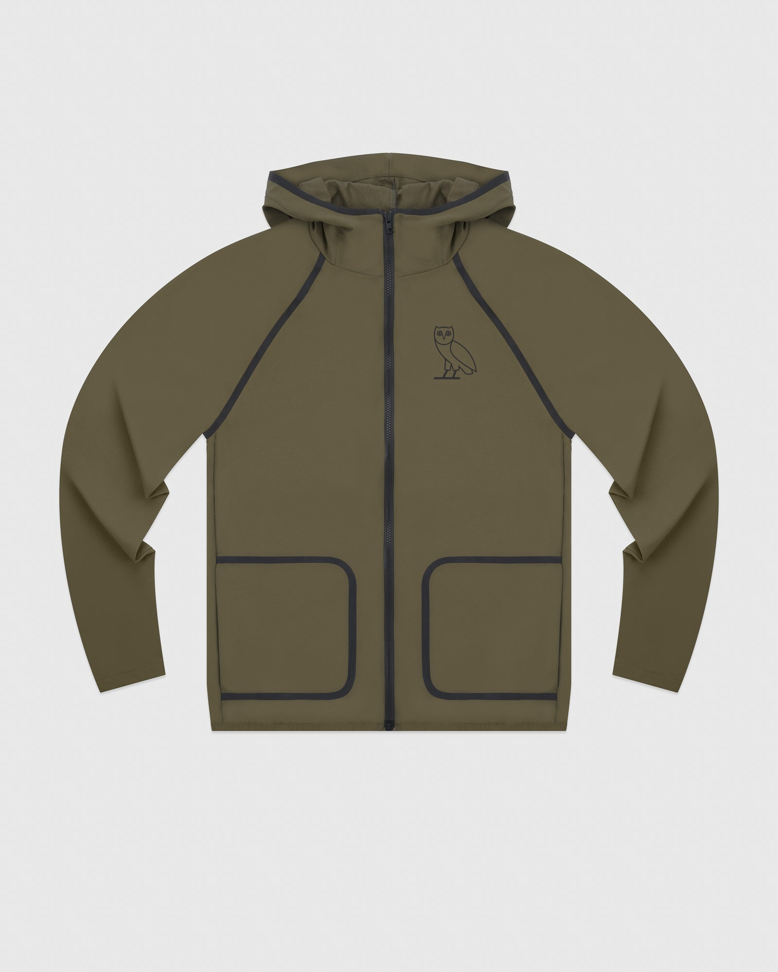 OVO 4-WAY STRETCH ZIP HOODIE - LIGHT STONE GREEN IMAGE #1