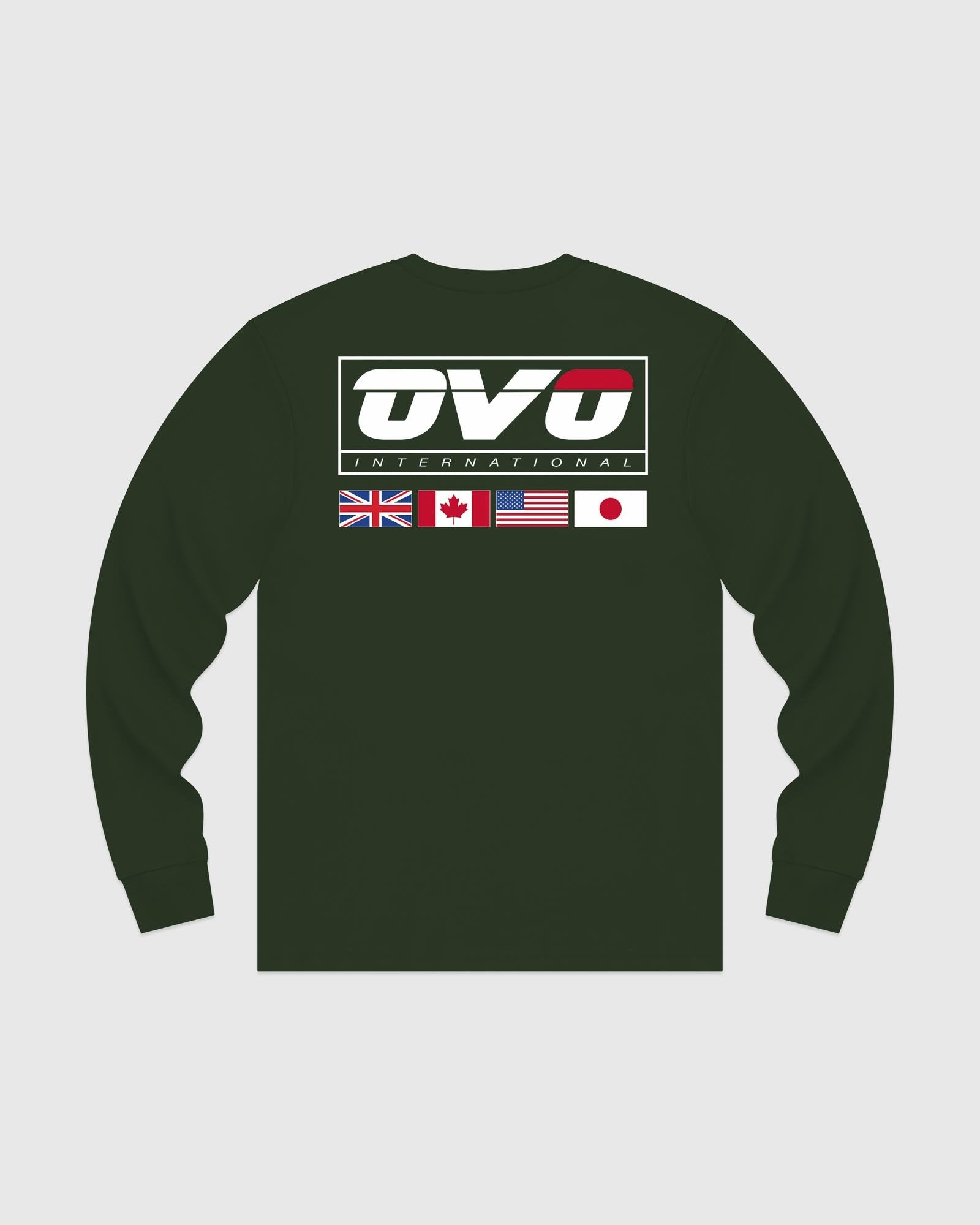 INTERNATIONAL LONGSLEEVE T-SHIRT - FOREST GREEN IMAGE #5
