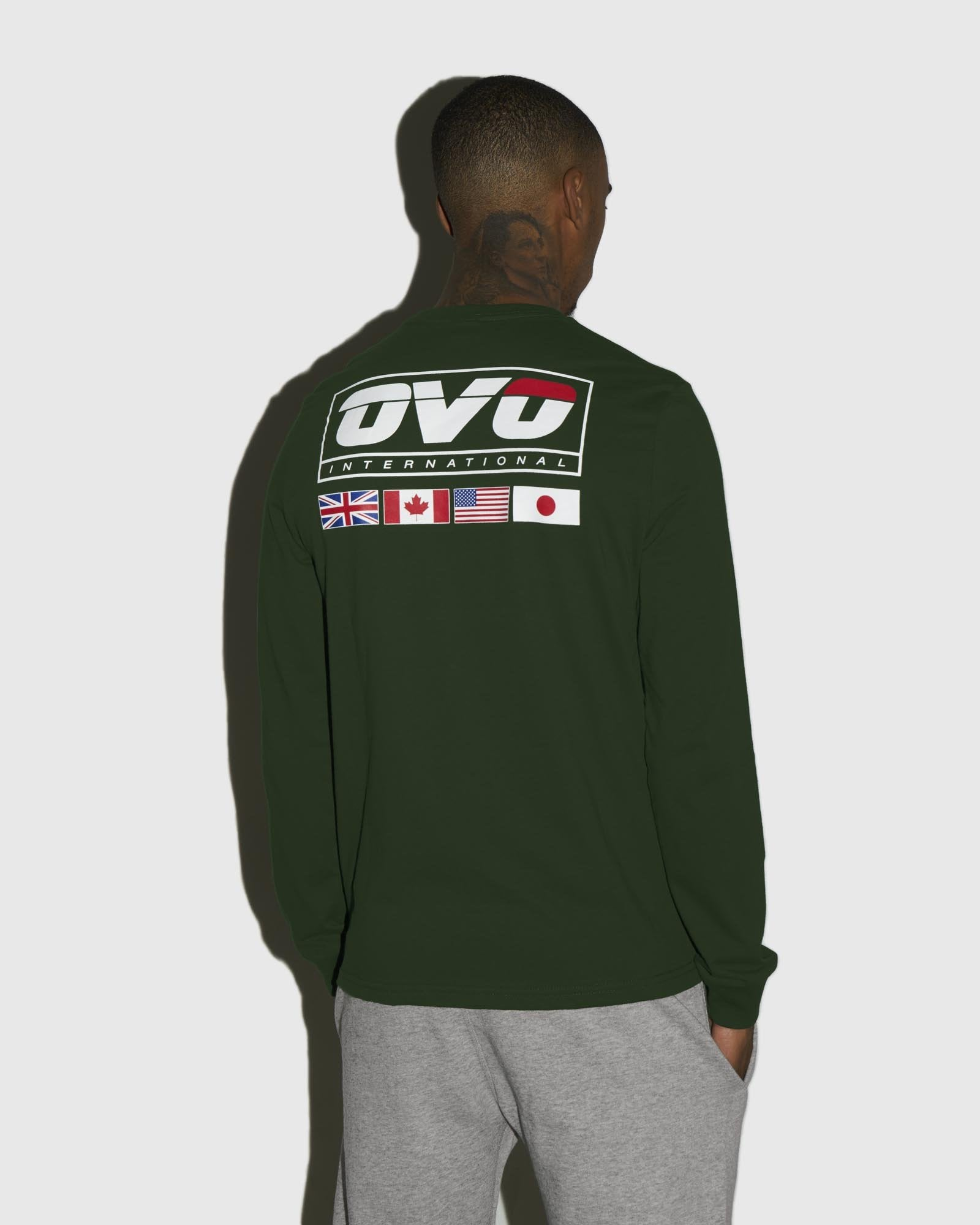 INTERNATIONAL LONGSLEEVE T-SHIRT - FOREST GREEN IMAGE #3
